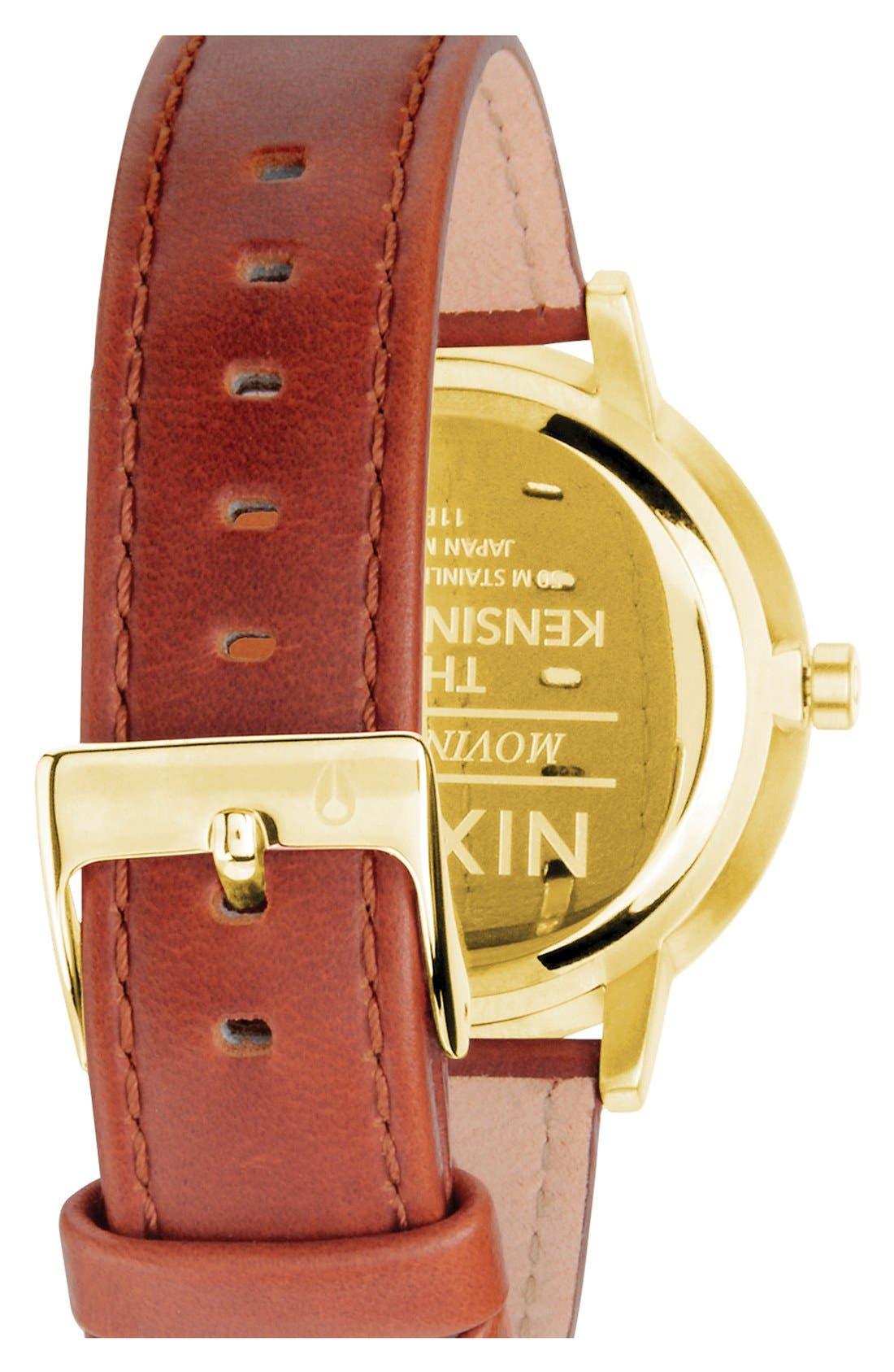 'The Kensington' Leather Strap Watch, 37mm,                             Alternate thumbnail 35, color,