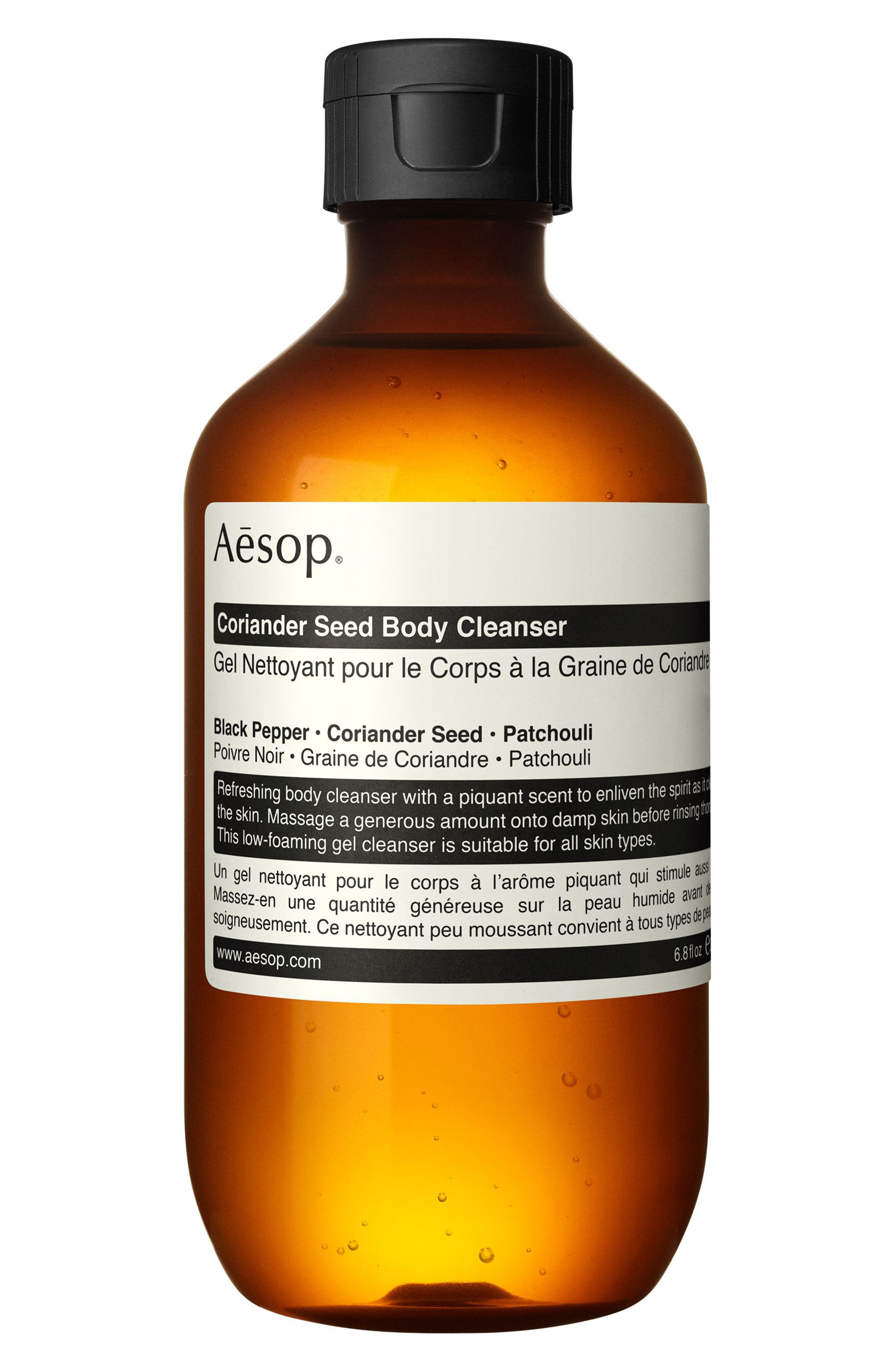 AESOP Coriander Seed Body Cleanser, Main, color, NONE