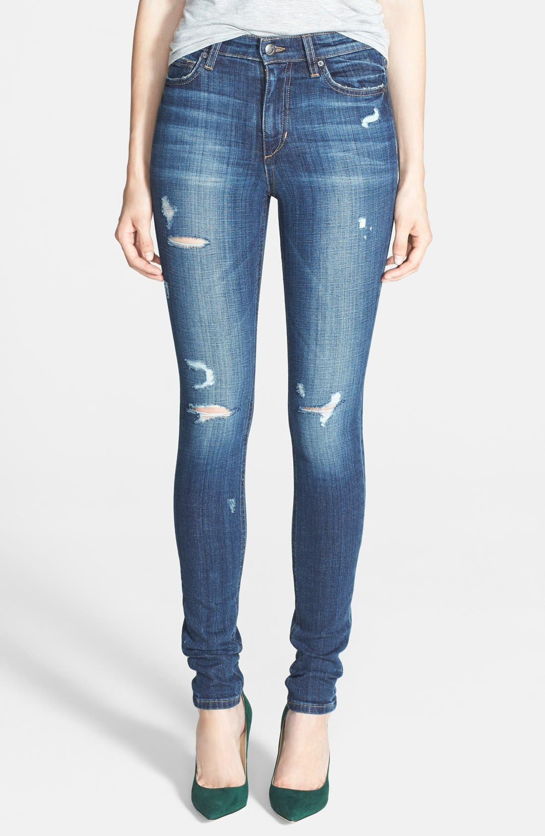 High Rise Skinny Jeans,                             Main thumbnail 1, color,                             400