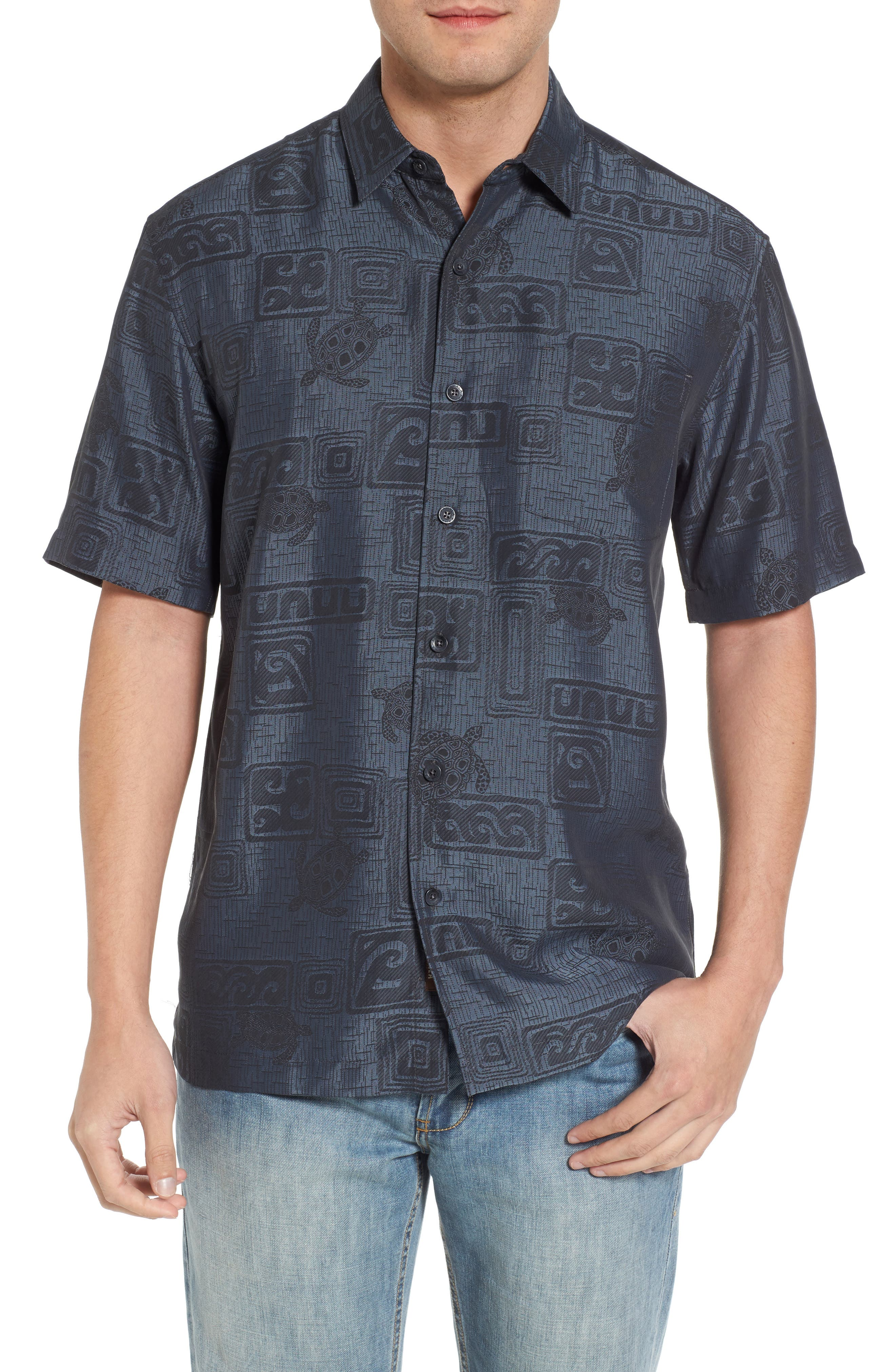 Sea Shells Classic Fit Sport Shirt,                             Main thumbnail 1, color,                             060