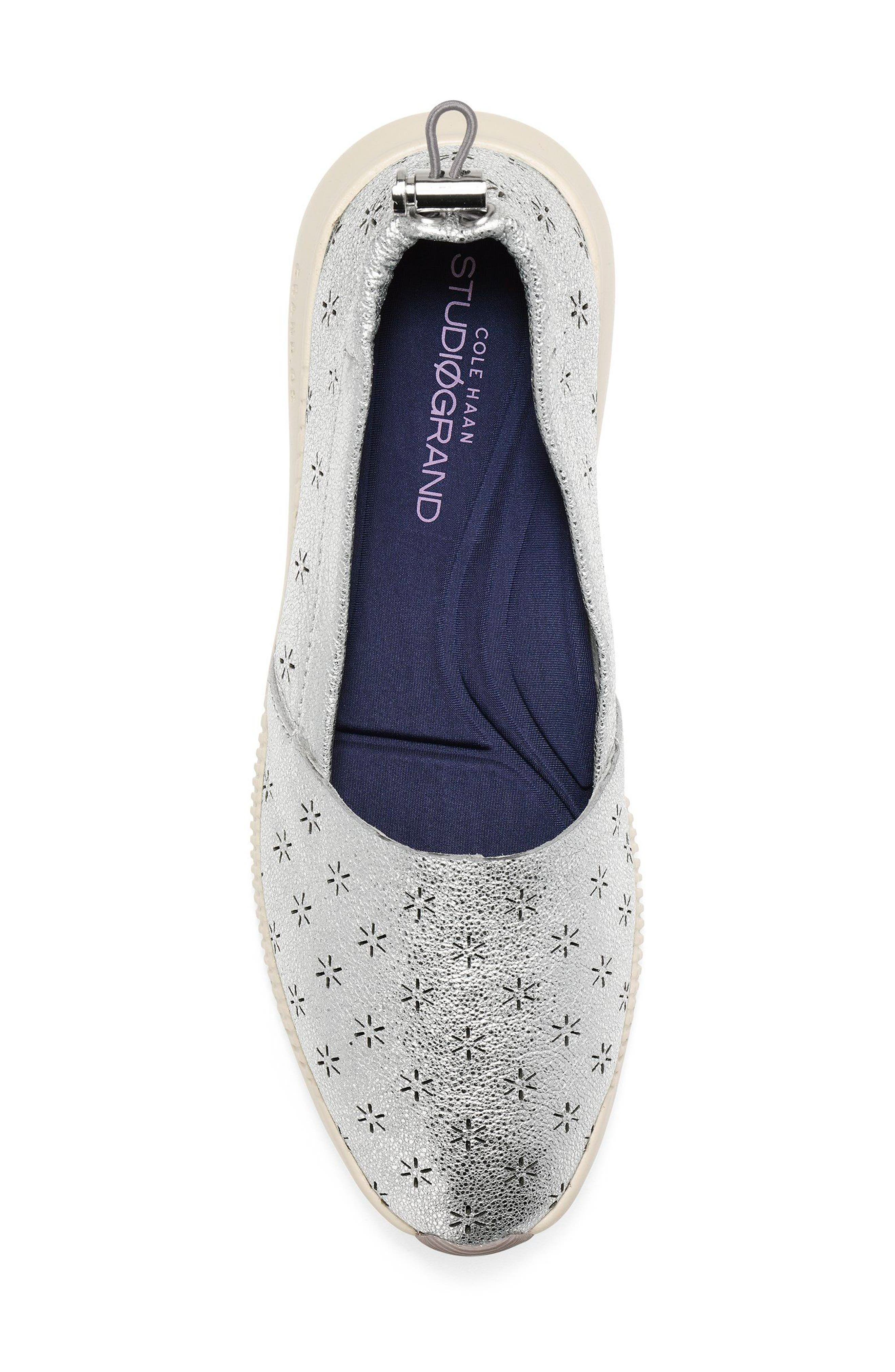 Studiogrand Perforated Slip-on,                             Alternate thumbnail 5, color,                             SILVER LEATHER