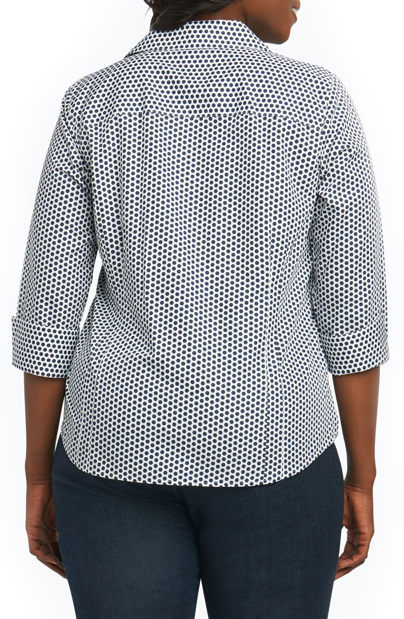 Taylor Optic Dot Non Iron Cotton Shirt,                             Alternate thumbnail 2, color,                             104