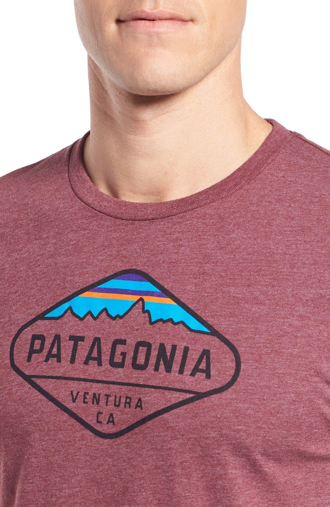 'Fitz Roy Crest' Slim Fit Organic Cotton Blend T-Shirt,                             Alternate thumbnail 39, color,