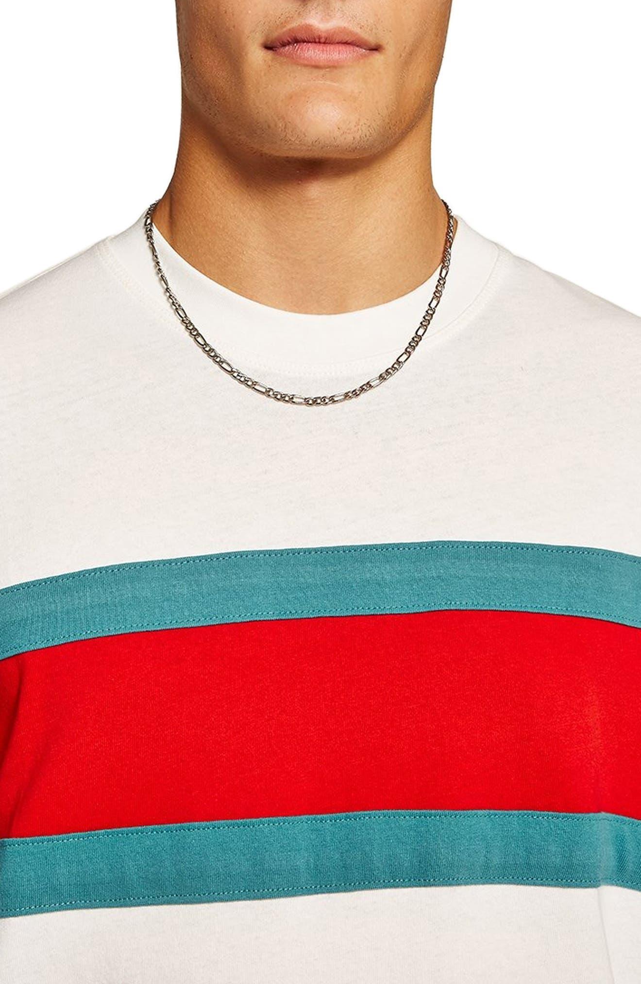 Oversize Stripe T-Shirt,                             Alternate thumbnail 3, color,                             101