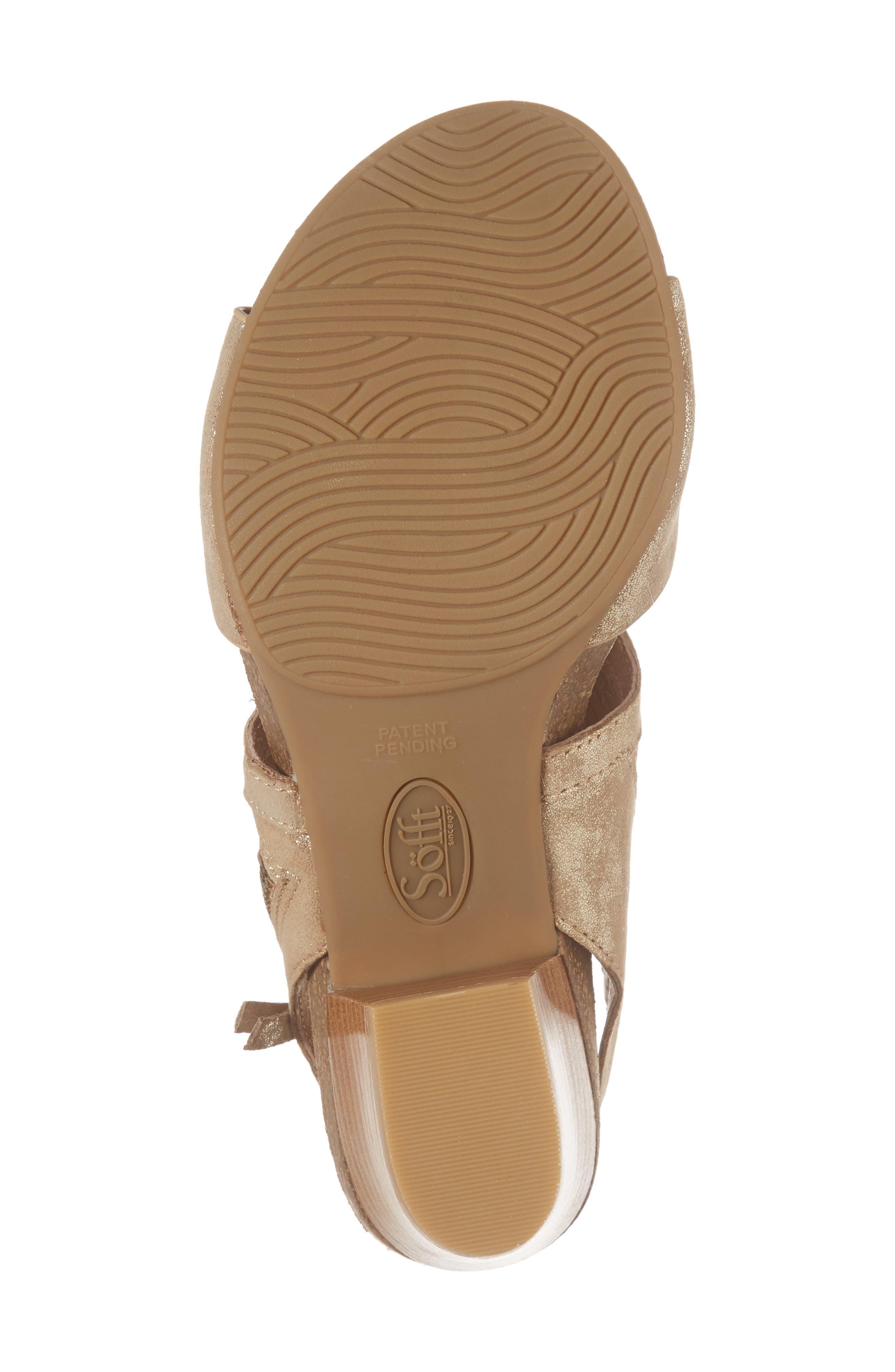 Milan Block Heel Sandal,                             Alternate thumbnail 6, color,                             PLATINO DISTRESSED FOIL SUEDE