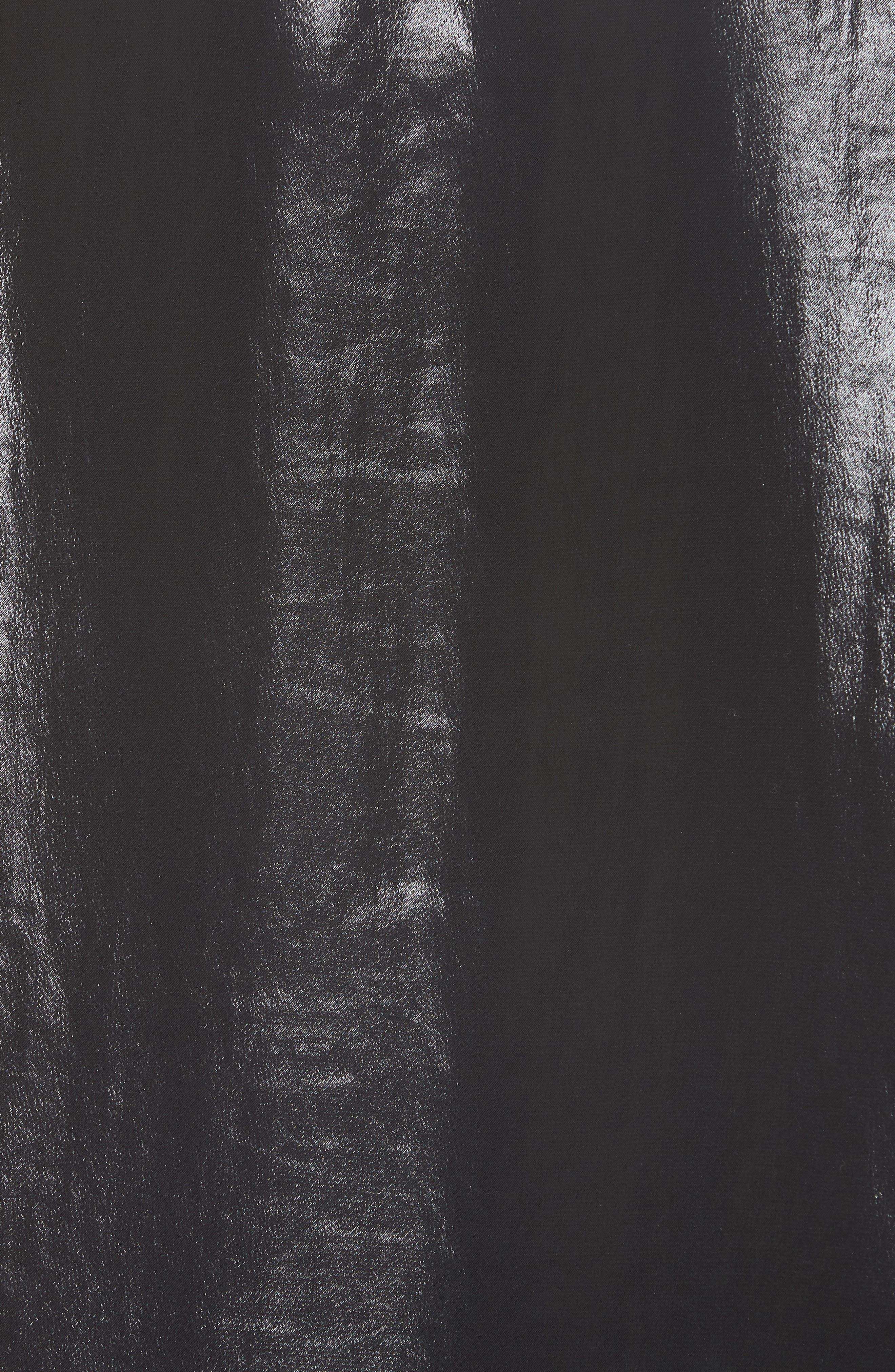 Sloane Metallic Tee,                             Alternate thumbnail 5, color,                             001