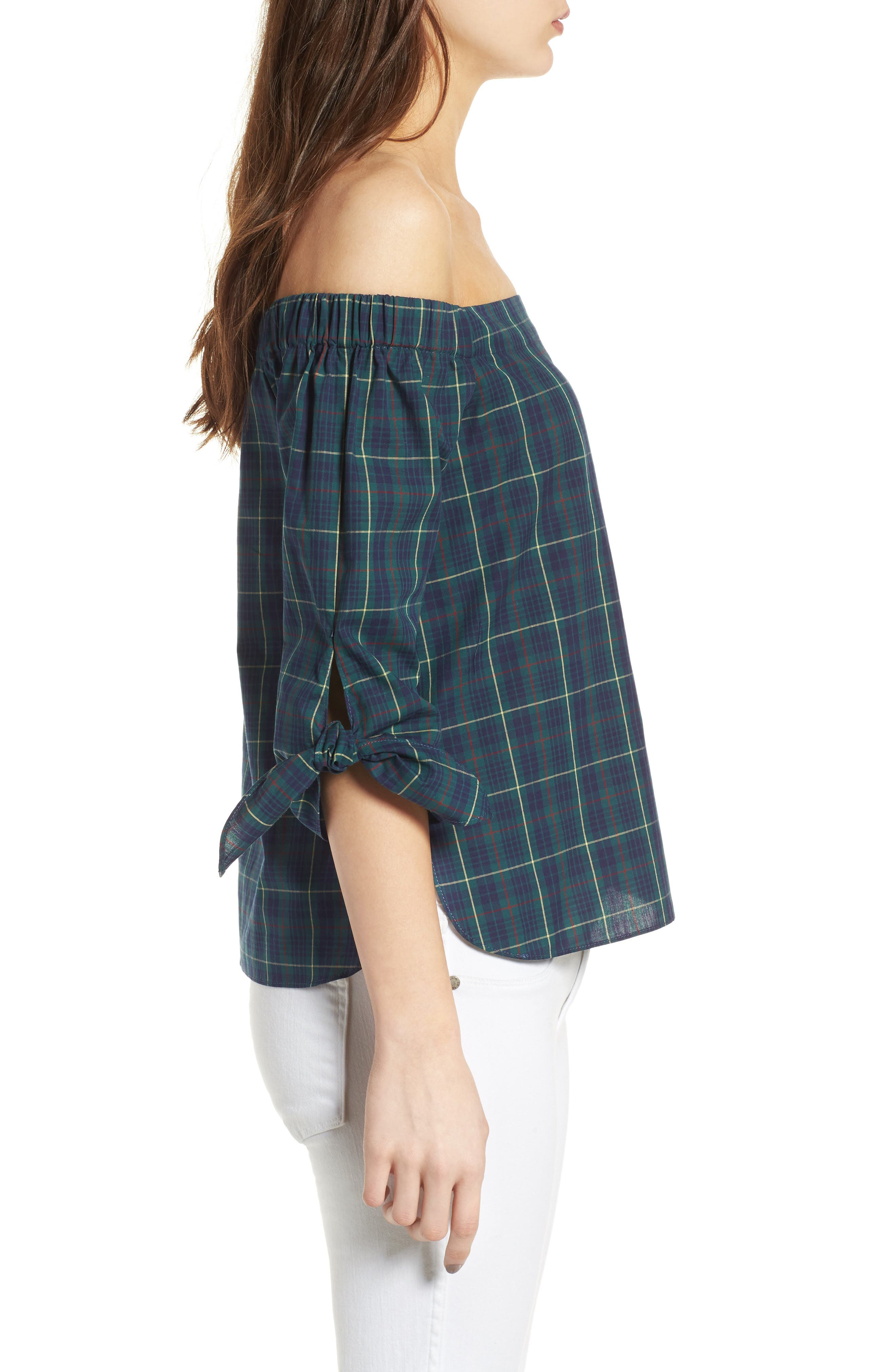 Twin Fin Off the Shoulder Top,                             Alternate thumbnail 3, color,                             479
