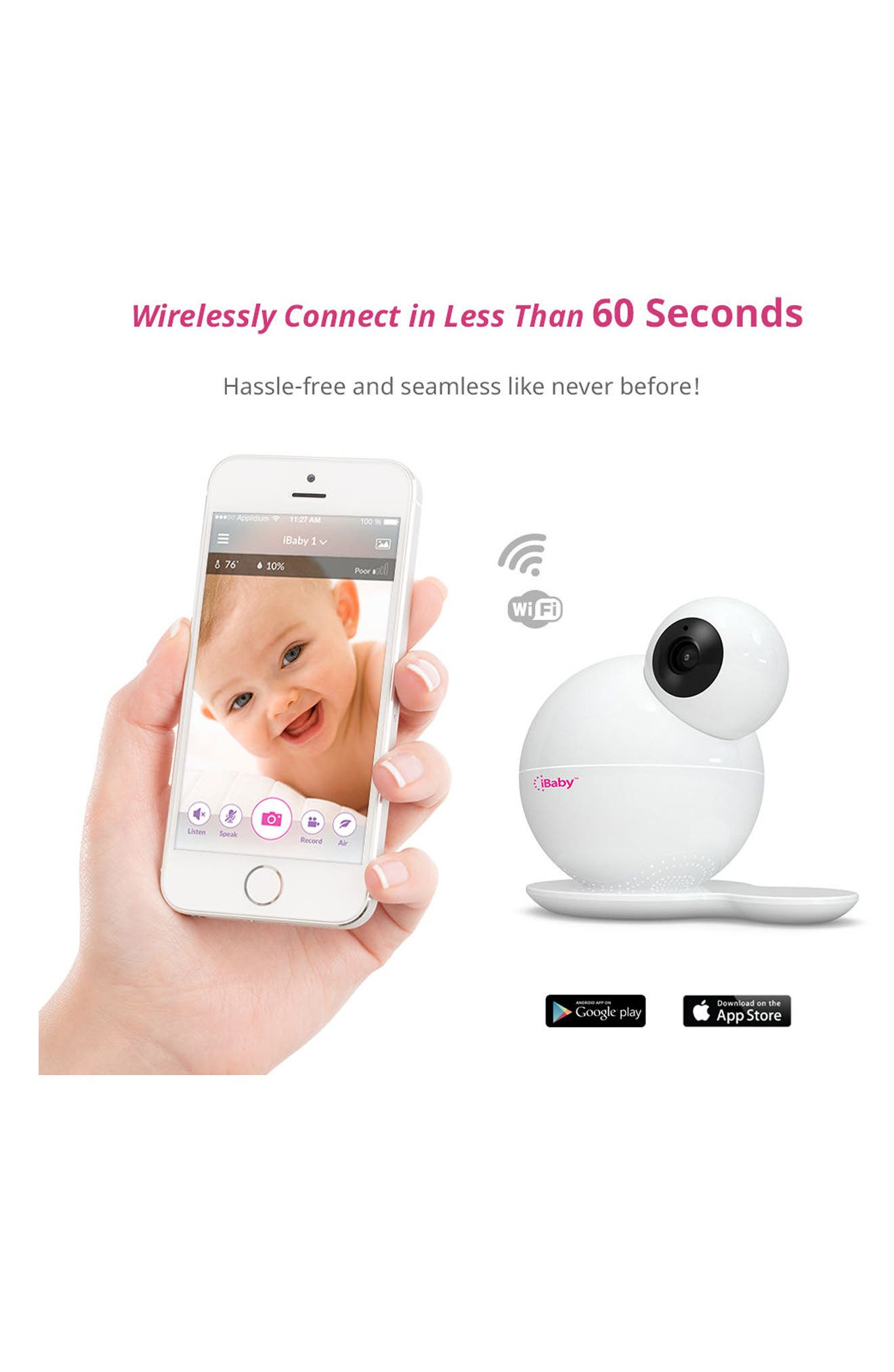 M6S Baby Monitor,                             Alternate thumbnail 3, color,                             WHITE