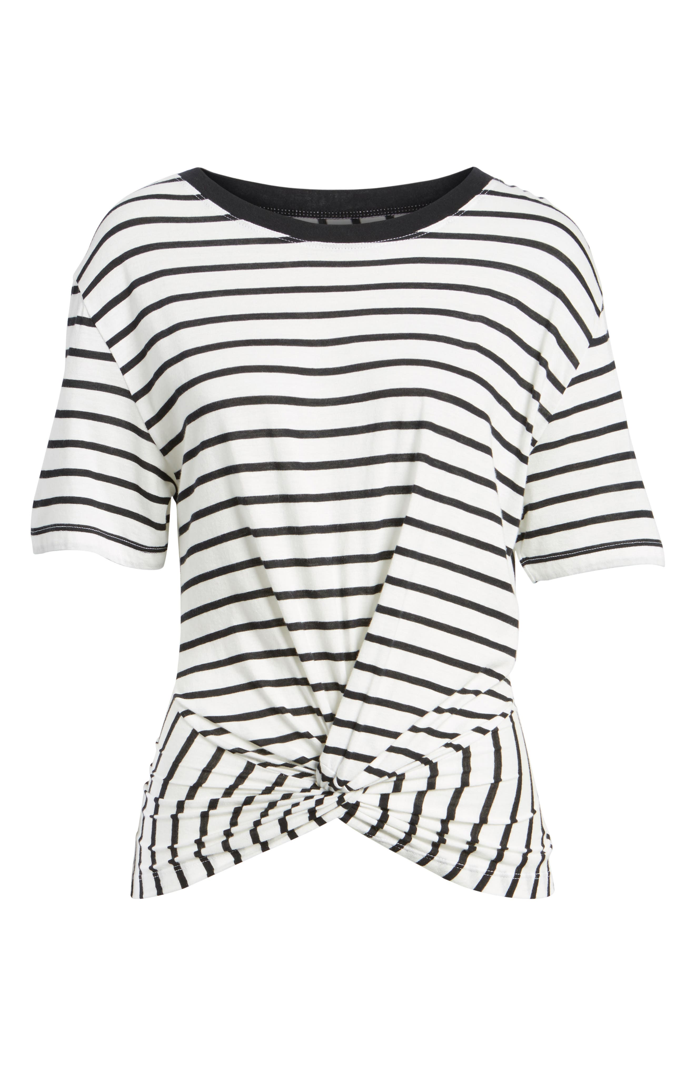 Stripe Knotted Tee,                             Alternate thumbnail 6, color,                             005