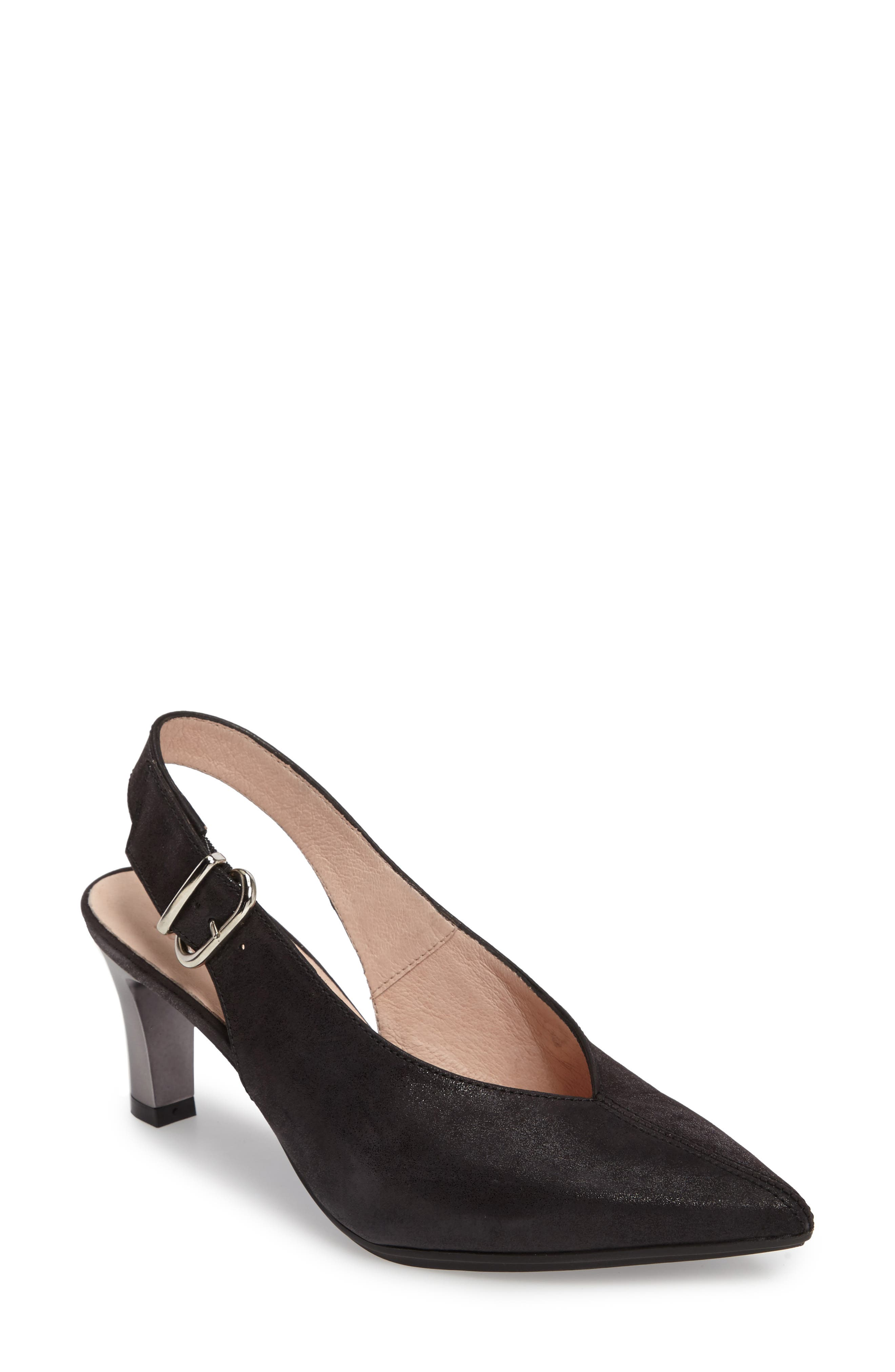 Honey Pointy Toe Slingback Pump,                             Main thumbnail 1, color,                             001