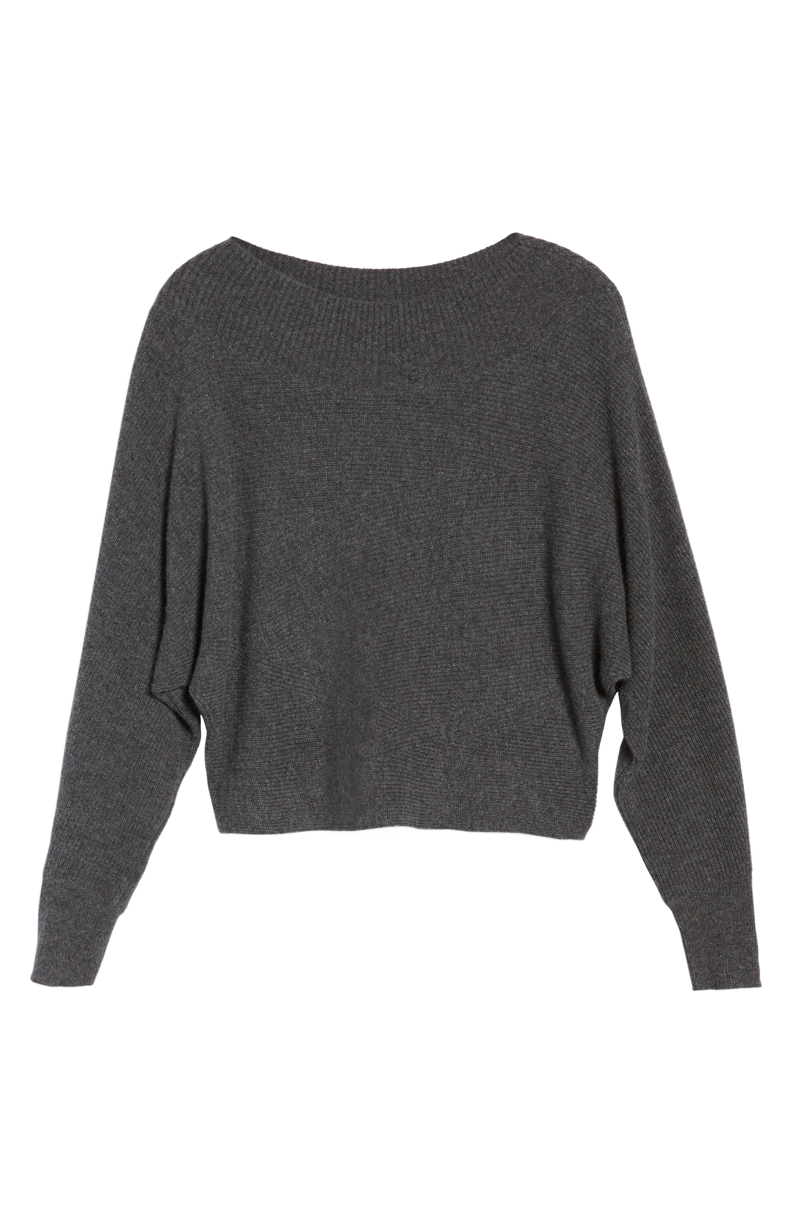 Dolman Sleeve Cashmere Sweater,                             Alternate thumbnail 6, color,                             030
