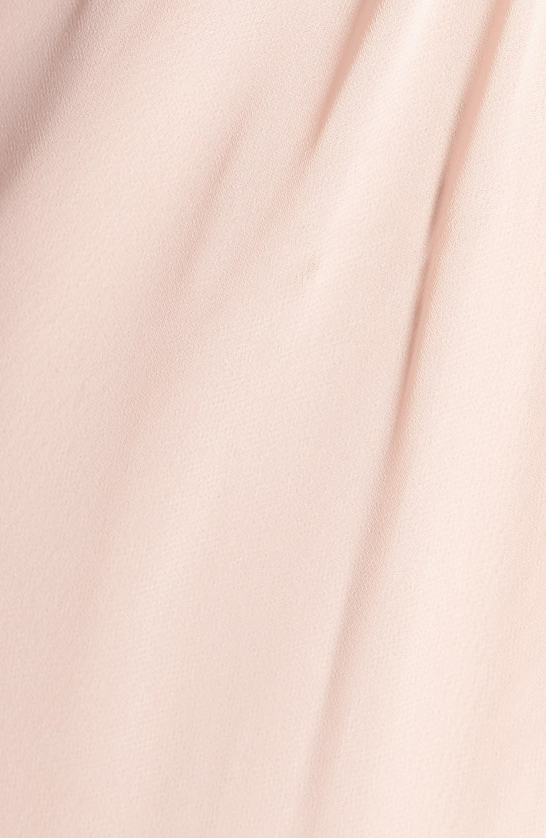 Deep V-Neck Chiffon & Tulle Gown,                             Alternate thumbnail 8, color,