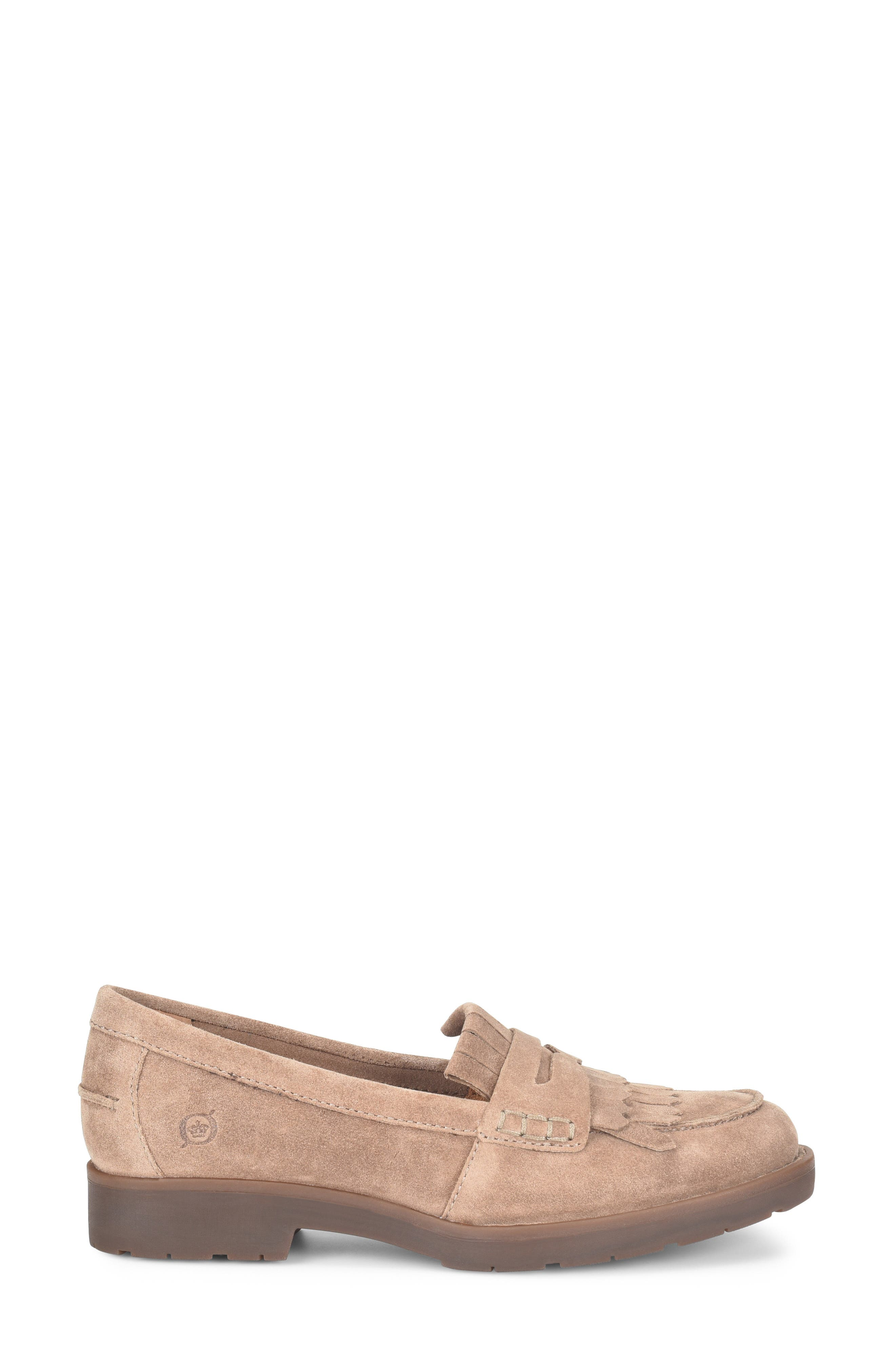 Lorens Loafer,                             Alternate thumbnail 3, color,                             TAUPE SUEDE