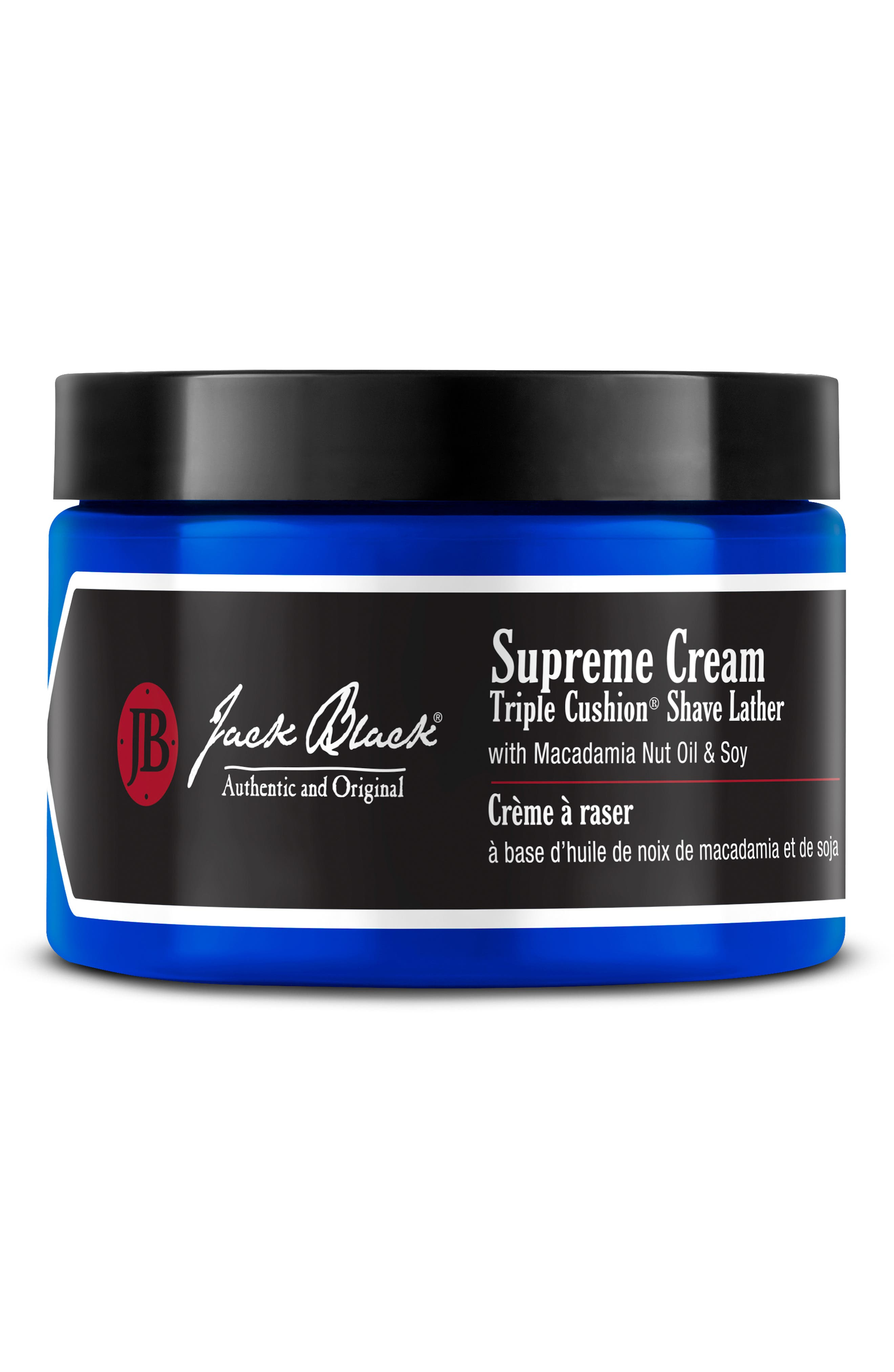 JACK BLACK,                             Supreme Cream Triple Cushion<sup>®</sup> Shave Lather,                             Main thumbnail 1, color,                             NO COLOR