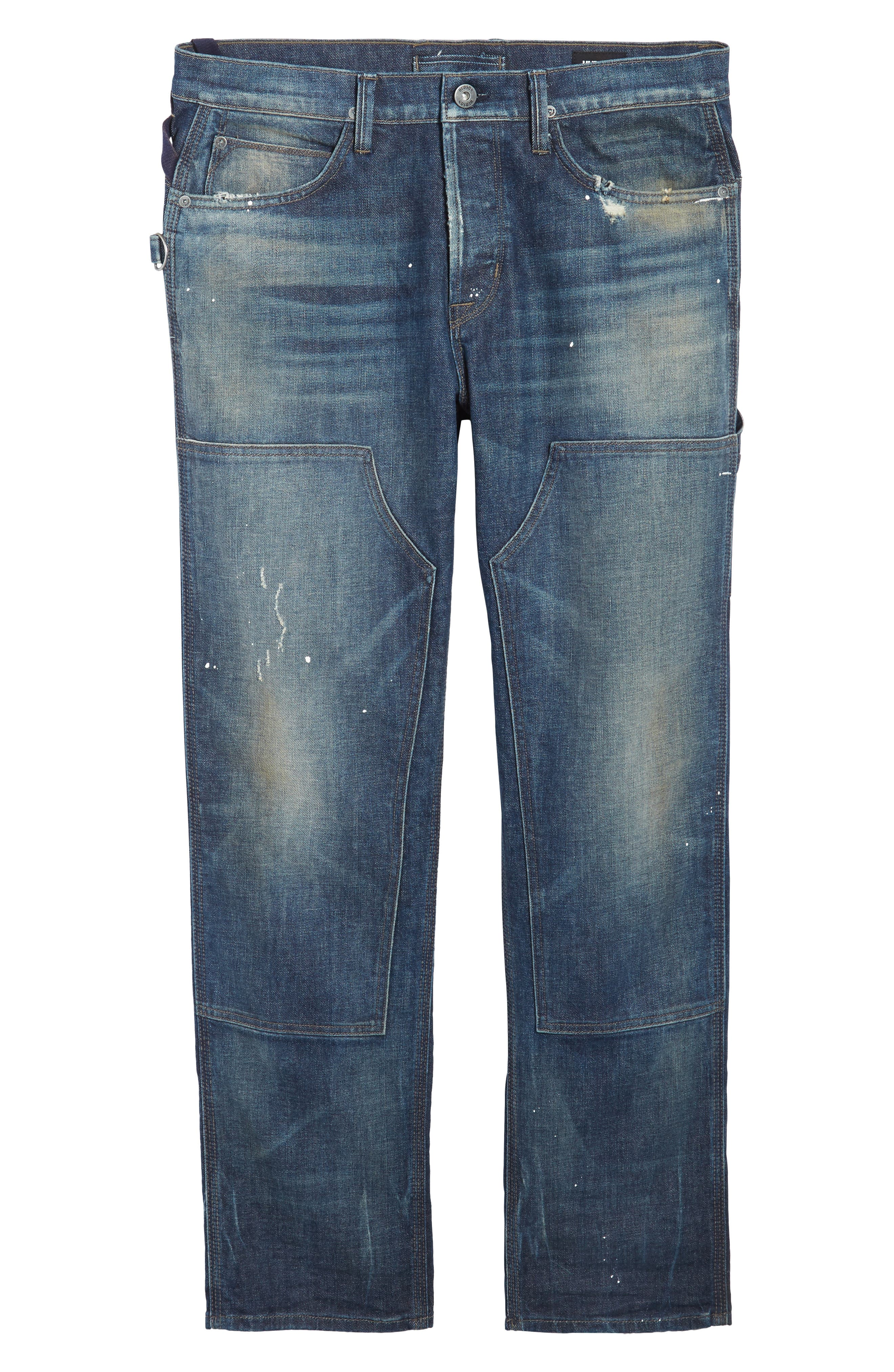 Hunter Straight Fit Jeans,                             Alternate thumbnail 6, color,                             422