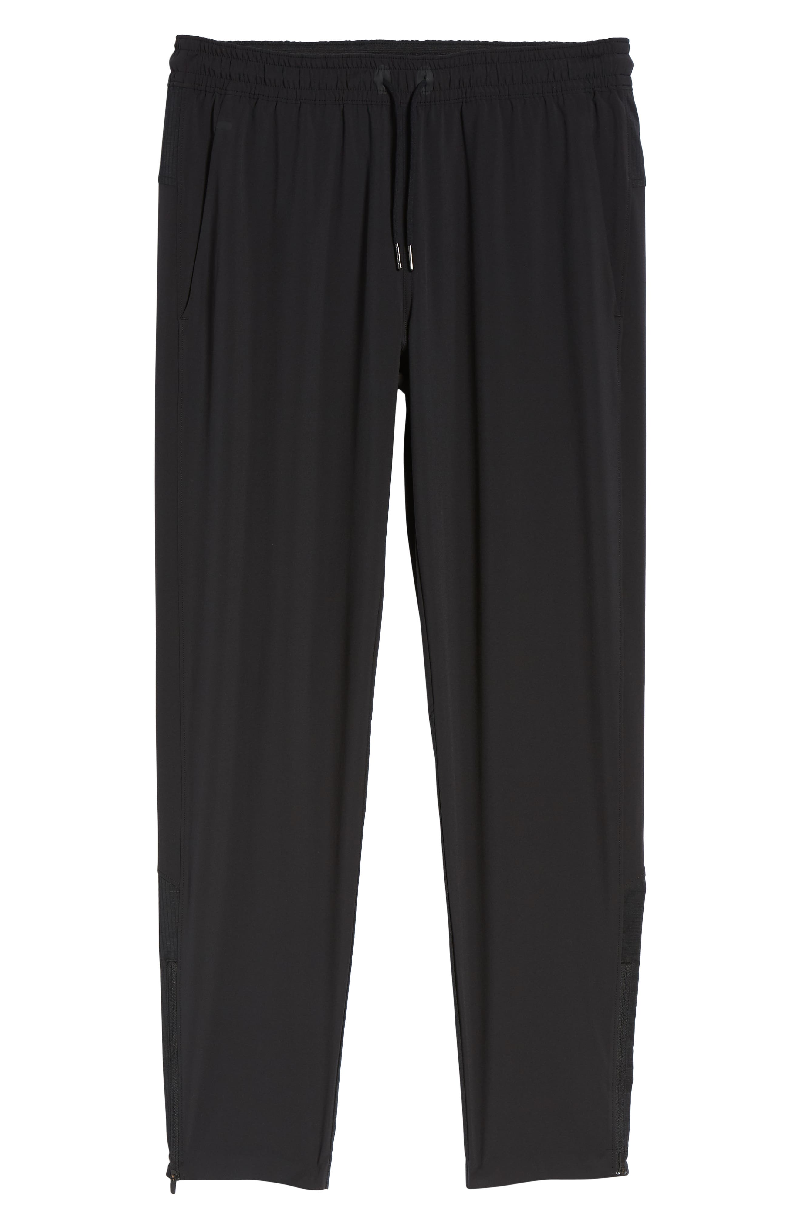 Graphite Tapered Athletic Pants,                             Alternate thumbnail 6, color,                             BLACK