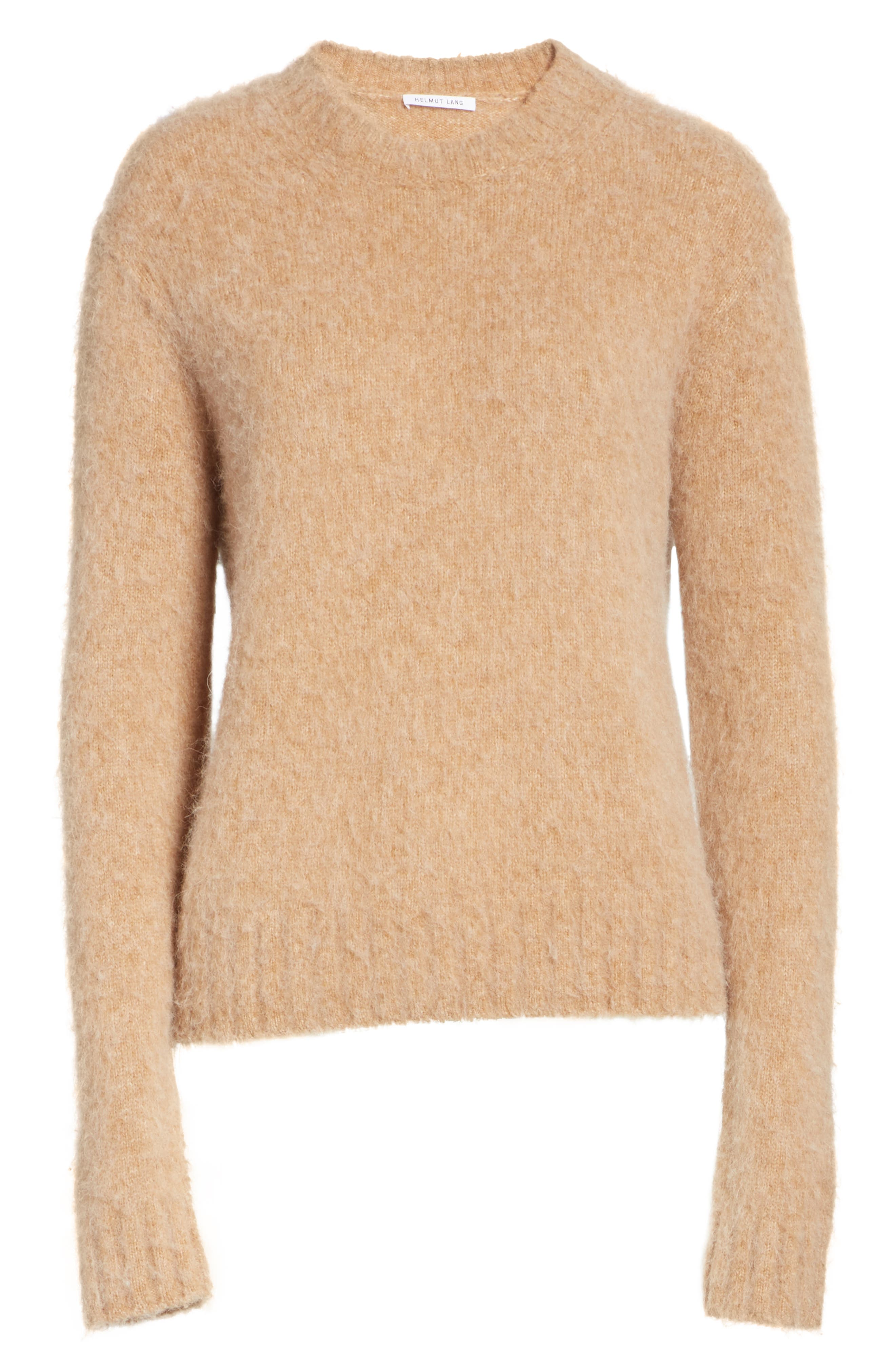 Brushed Wool & Alpaca Blend Sweater,                             Alternate thumbnail 6, color,                             BAND