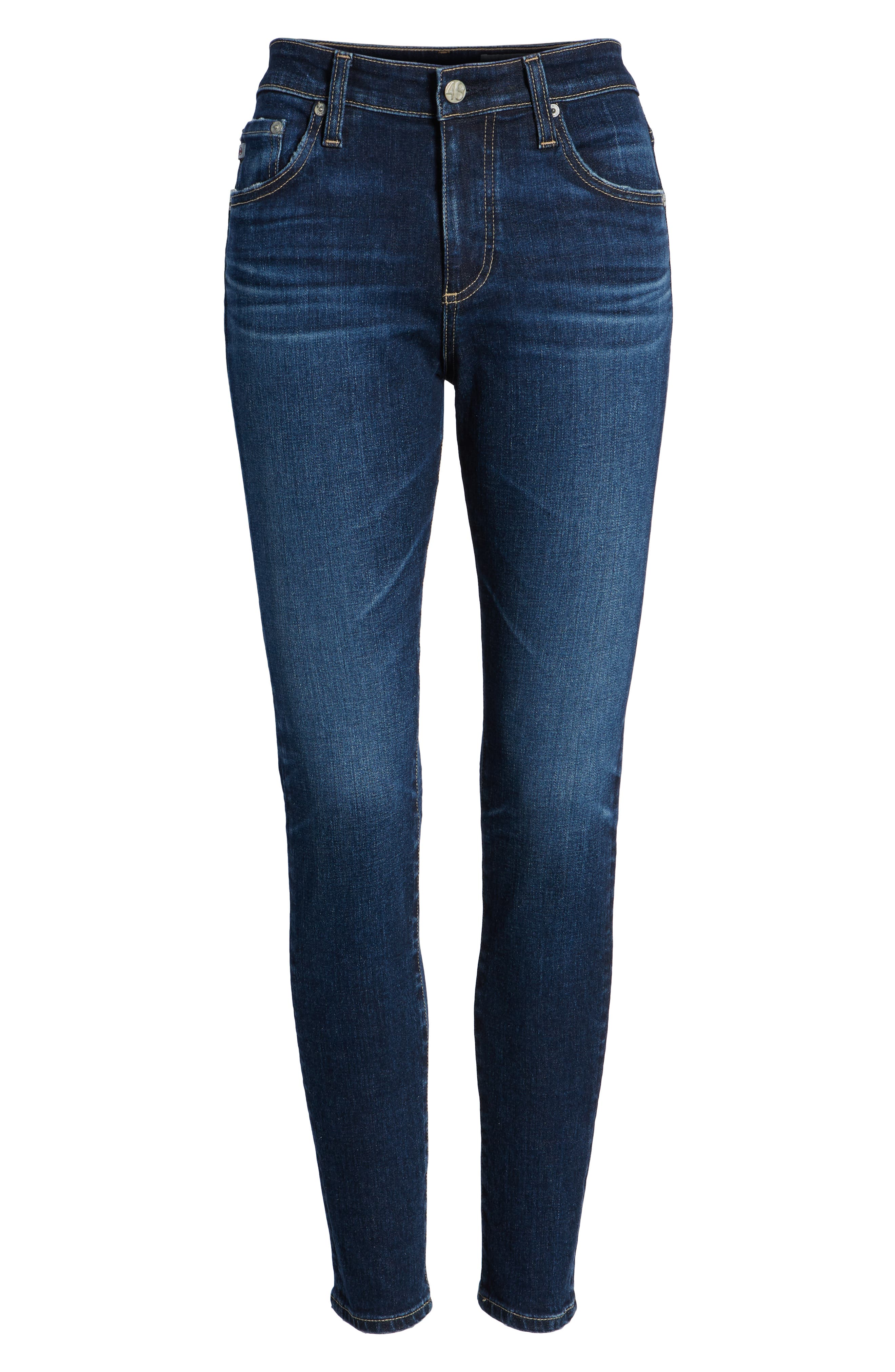 The Farrah Ankle Skinny Jeans,                             Alternate thumbnail 6, color,                             07 YEARS ASTRO AZURE