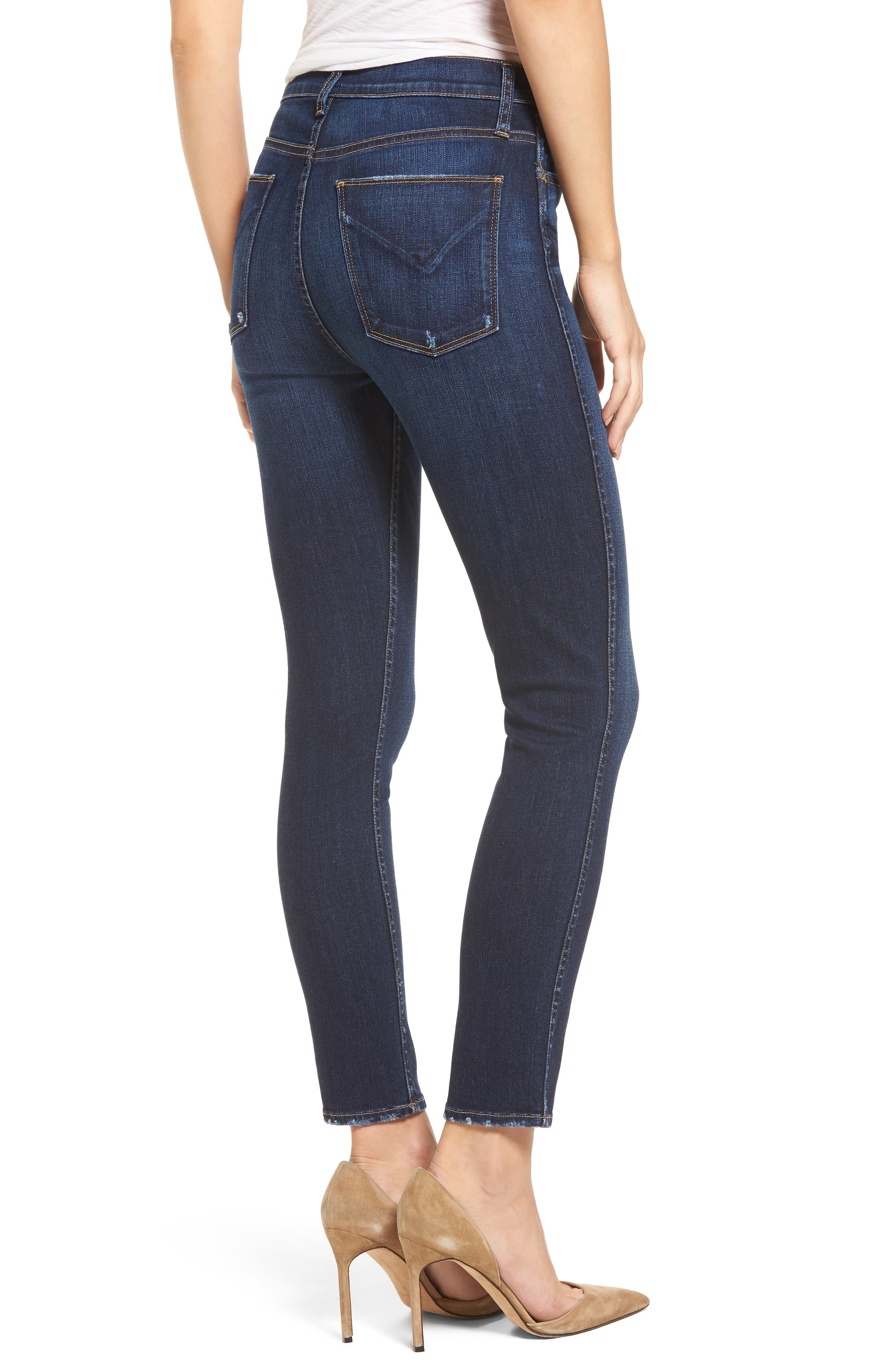 Holly High Waist Ankle Skinny Jeans,                             Alternate thumbnail 2, color,                             420