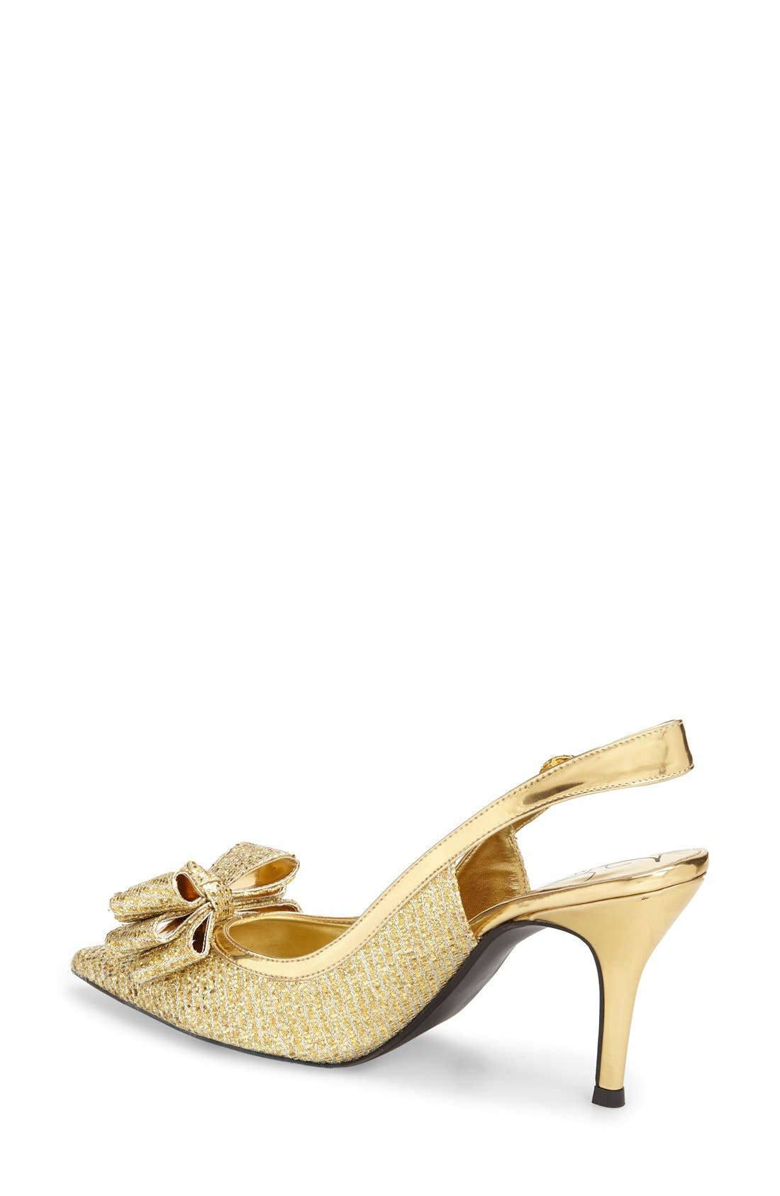 'Charise' Slingback Pump,                             Alternate thumbnail 2, color,                             GOLD