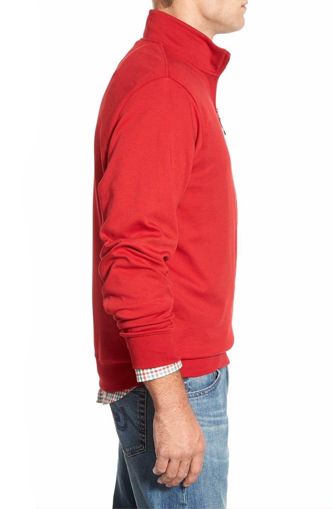 Quarter Zip Cotton Jersey Sweatshirt,                             Alternate thumbnail 4, color,                             020