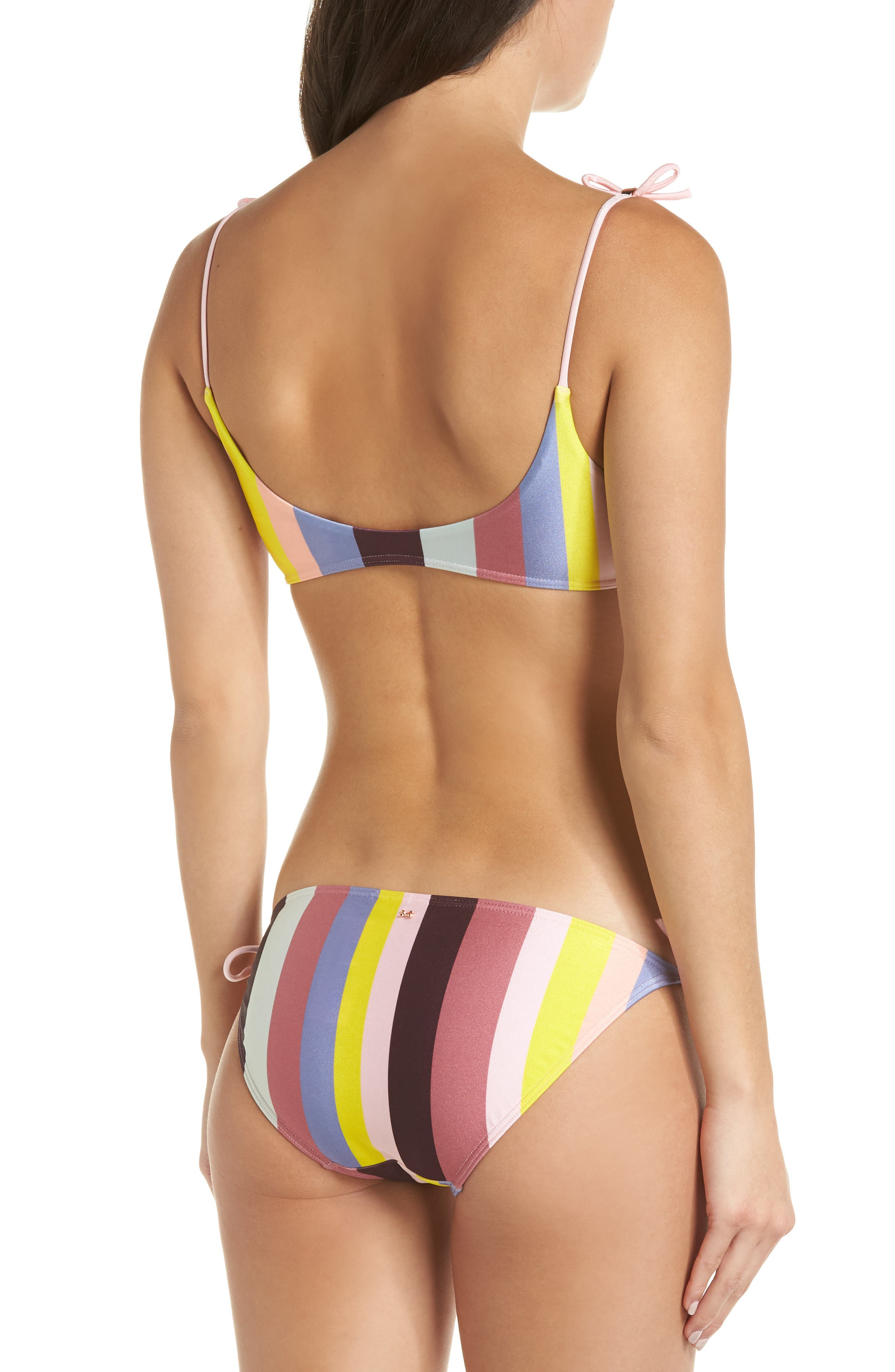 Penora Rio Stripe Bikini Top,                             Alternate thumbnail 8, color,                             LIGHT PINK