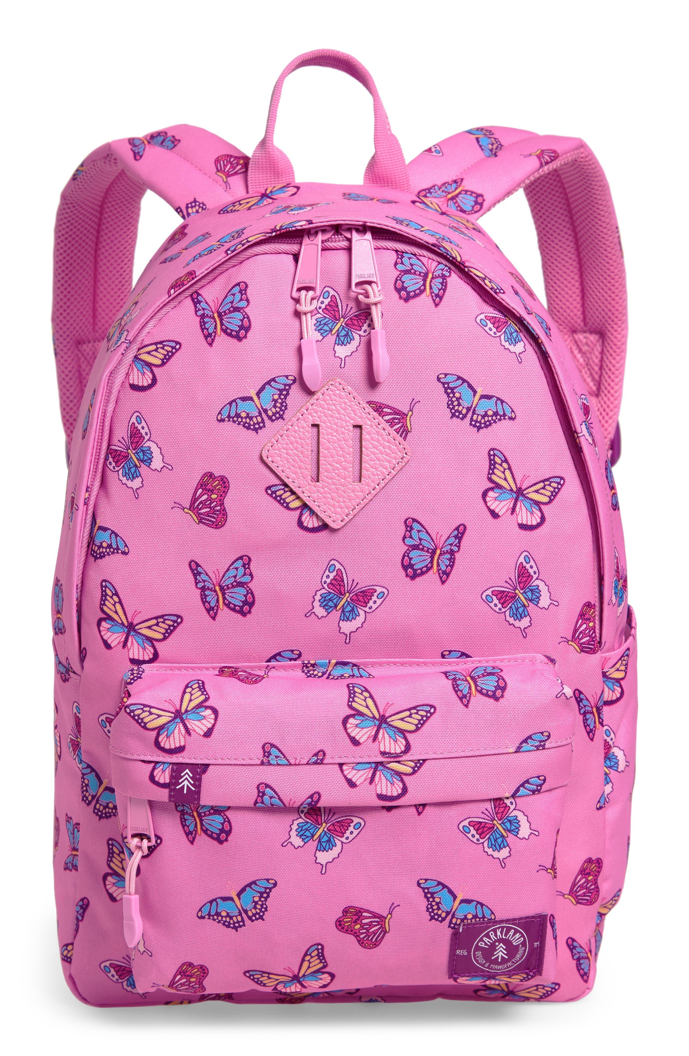 Girls Parkland Bayside Butterflies Backpack  Pink