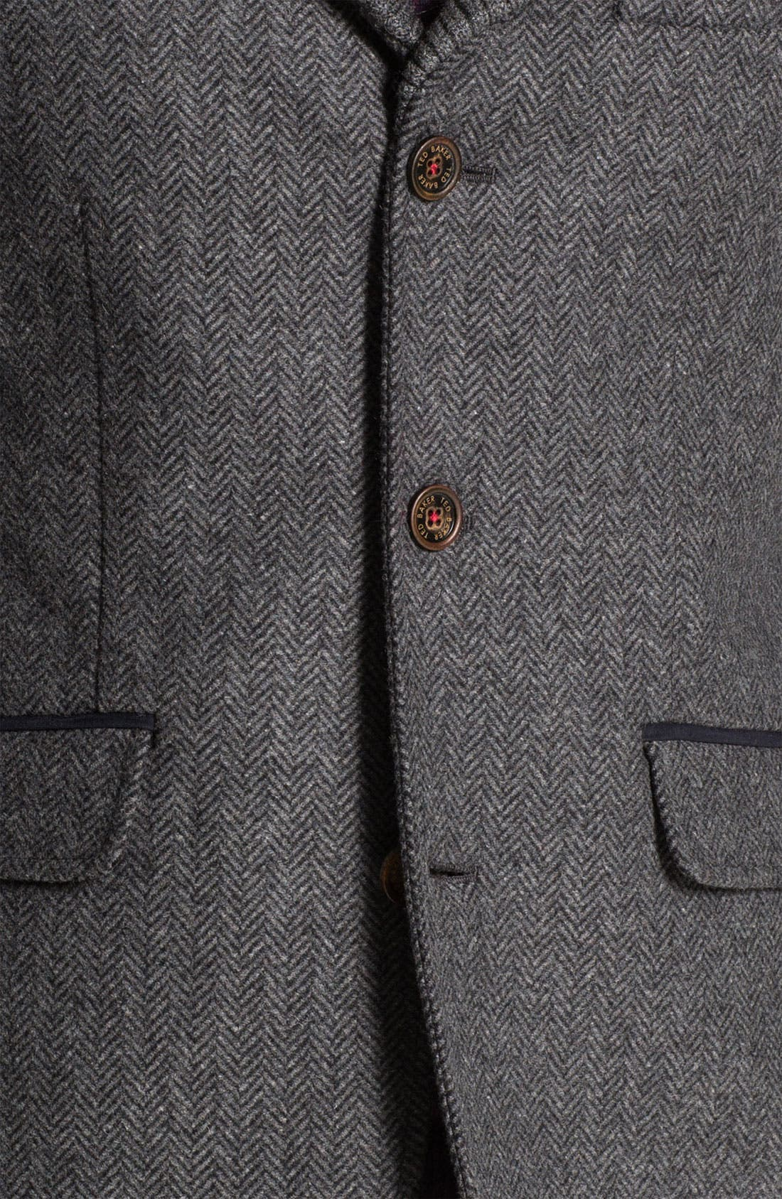 'Ananic' Shawl Collar Wool Blend Blazer,                             Alternate thumbnail 2, color,                             020