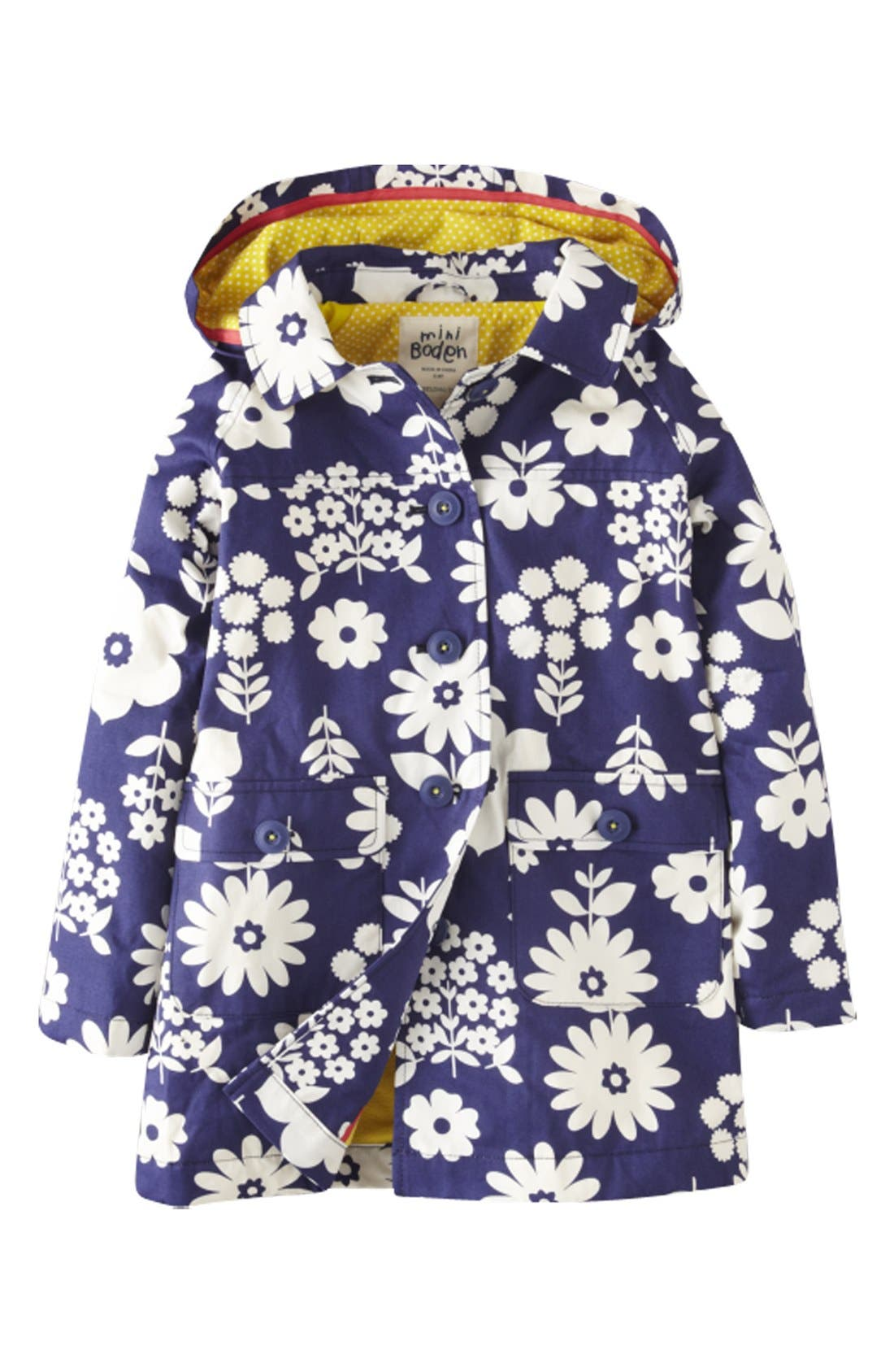 MINI BODEN 'Rainy Day' Raincoat, Main, color, 404