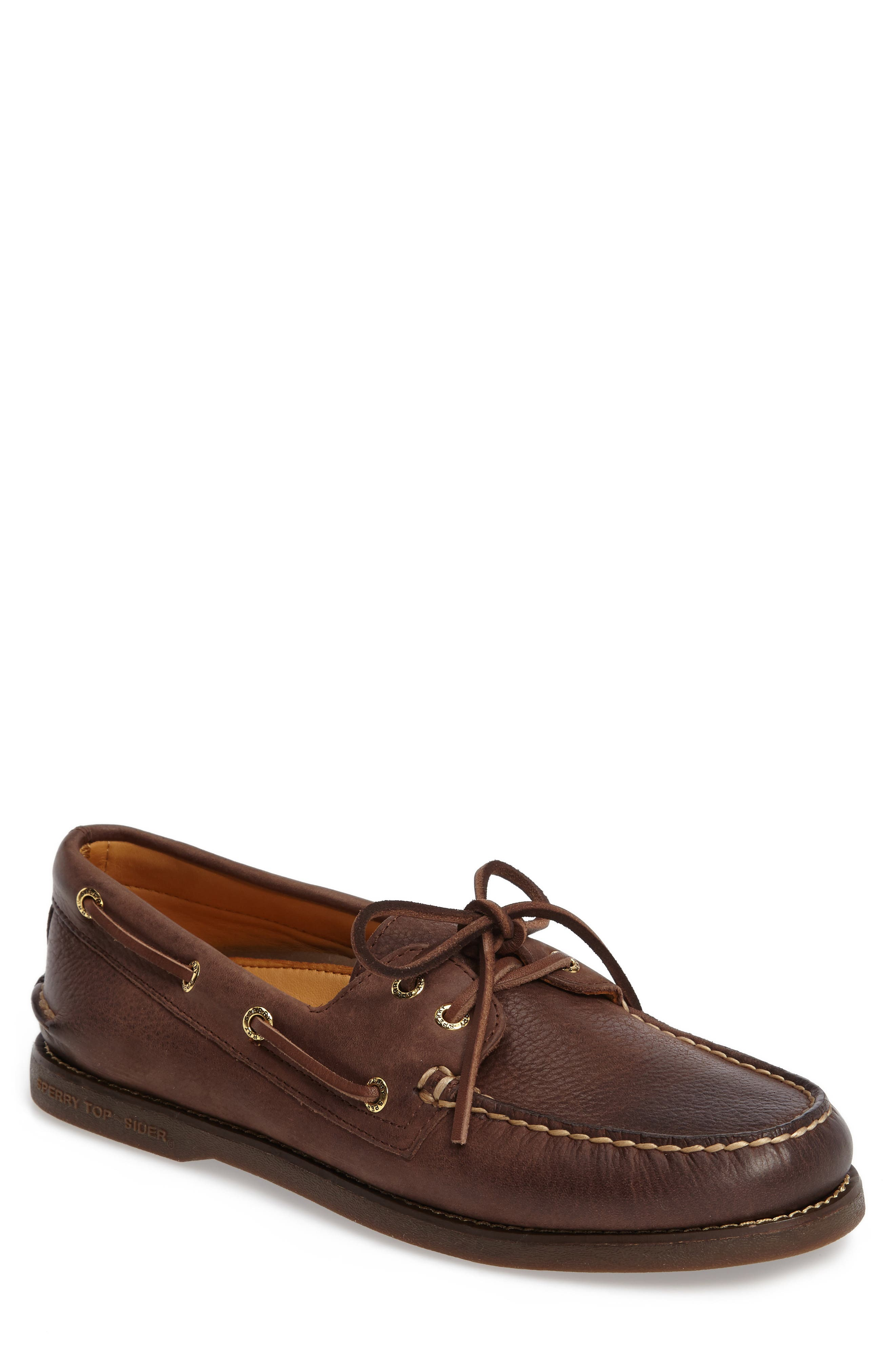 'Gold Cup - Authentic Original' Boat Shoe,                             Main thumbnail 1, color,                             CHOCOLATE