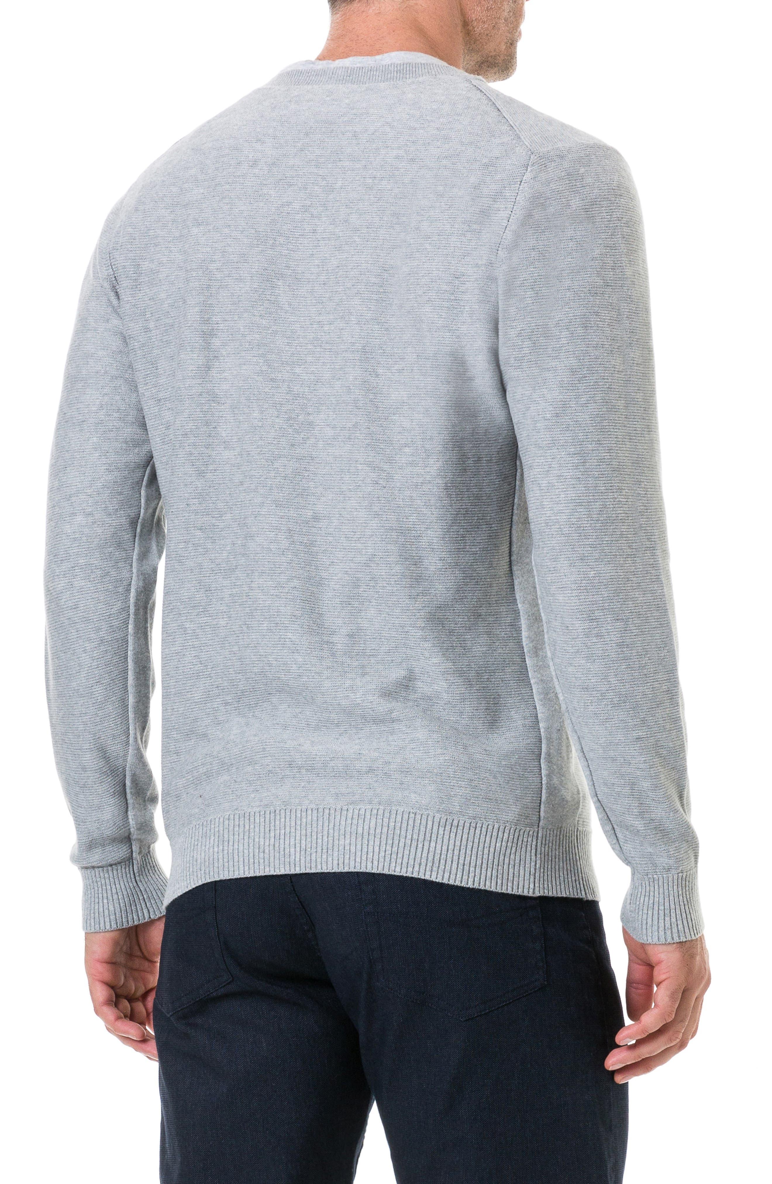 Ridgeview V-Neck Sweater,                             Alternate thumbnail 2, color,                             ASH