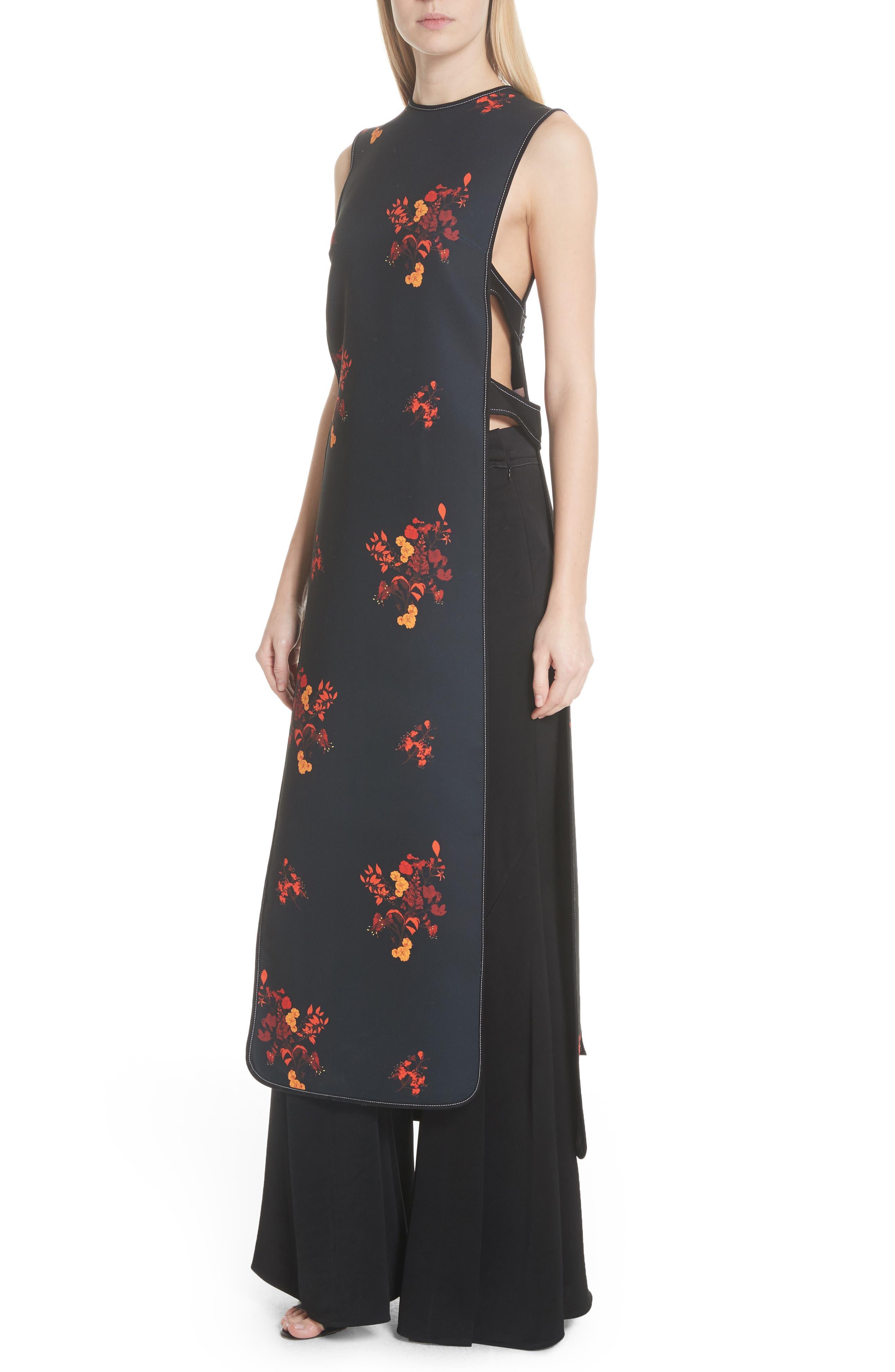 Judy Sleeveless Crepe Tunic Dress,                             Alternate thumbnail 4, color,                             800