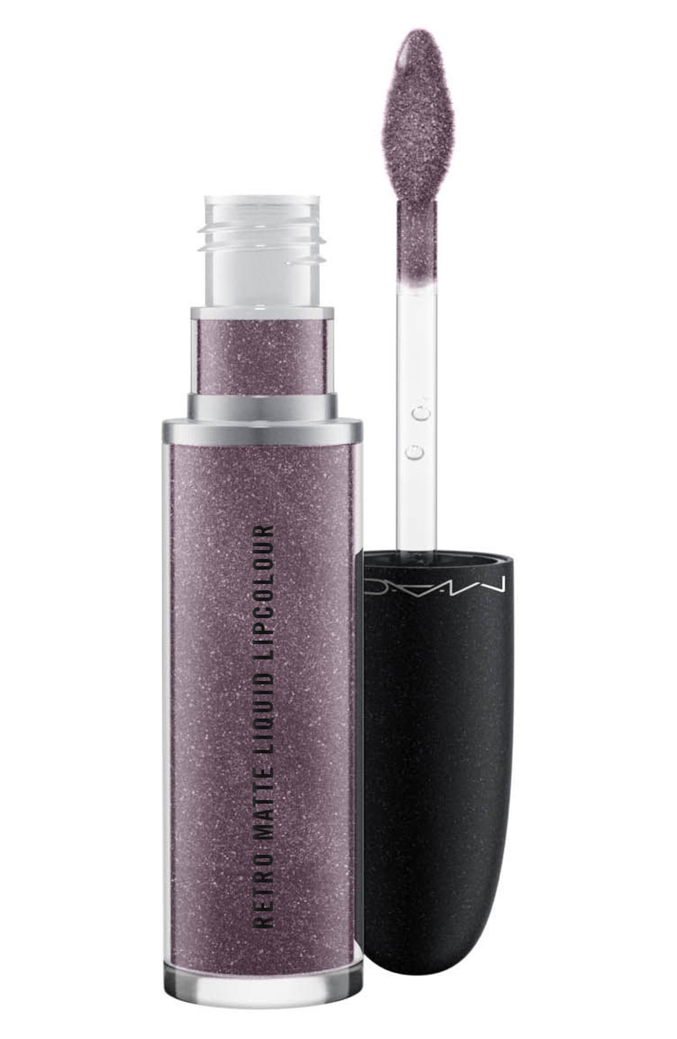 MAC Retro Matte Metallic Liquid Lipcolor,                             Alternate thumbnail 2, color,                             SILVER SPOON