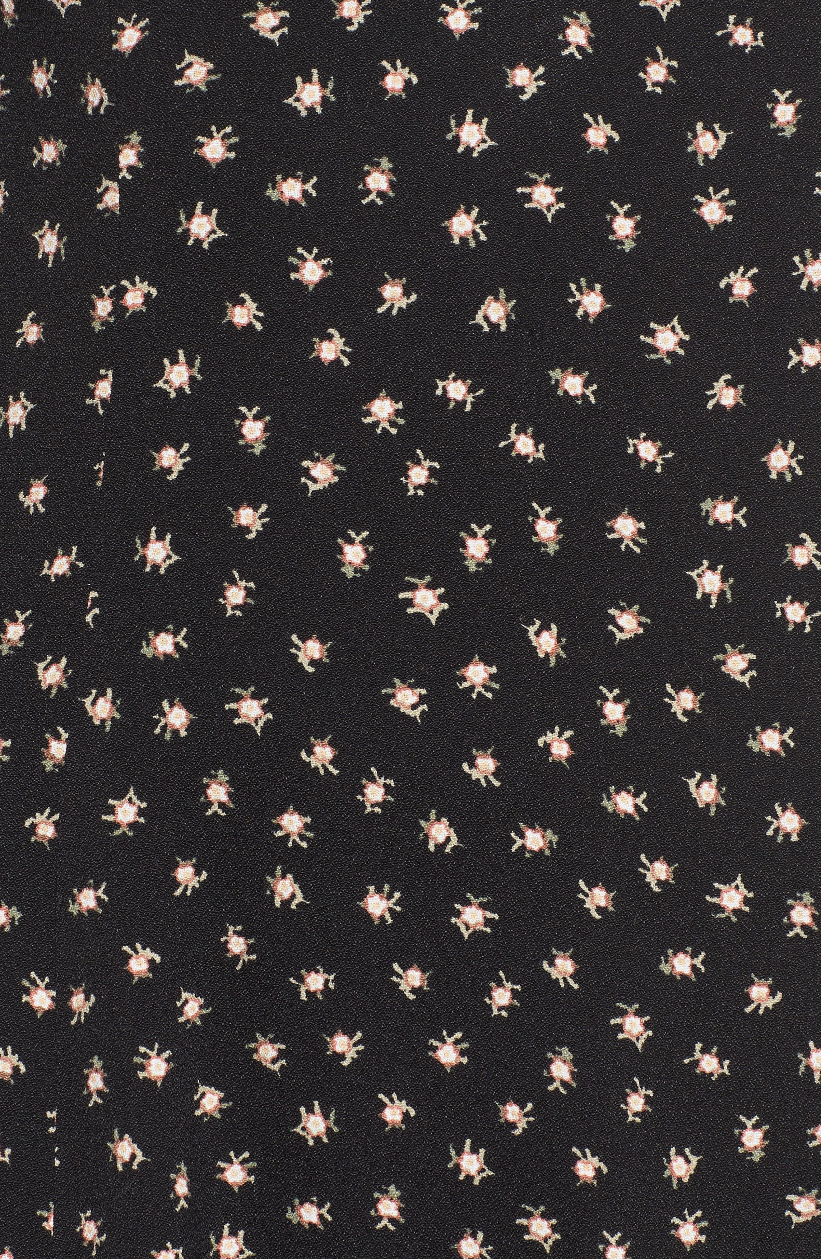 Roxanrie Minidress,                             Alternate thumbnail 6, color,                             NOIR BLOSSOM