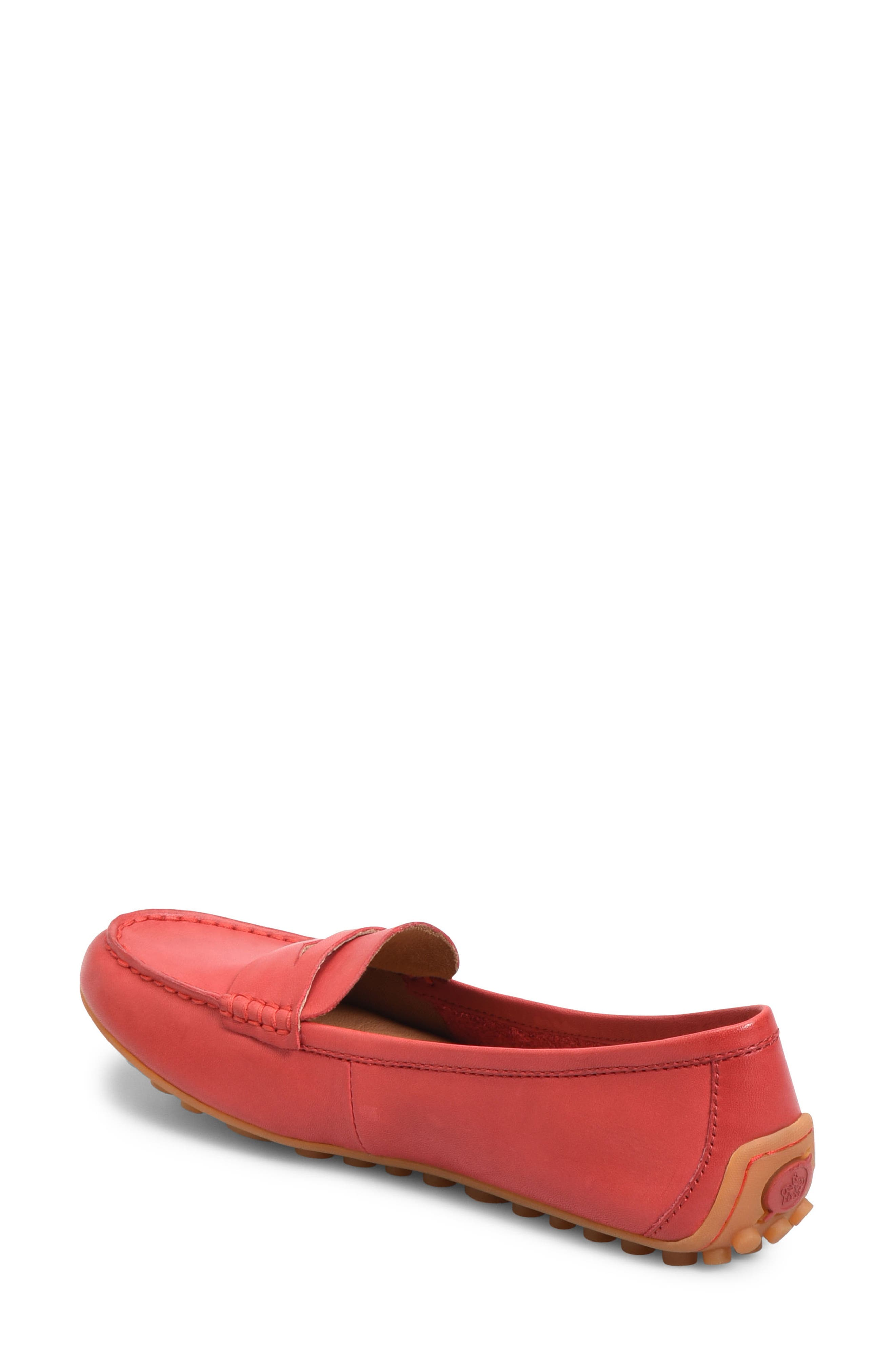Malena Driving Loafer,                             Alternate thumbnail 2, color,                             RED LEATHER