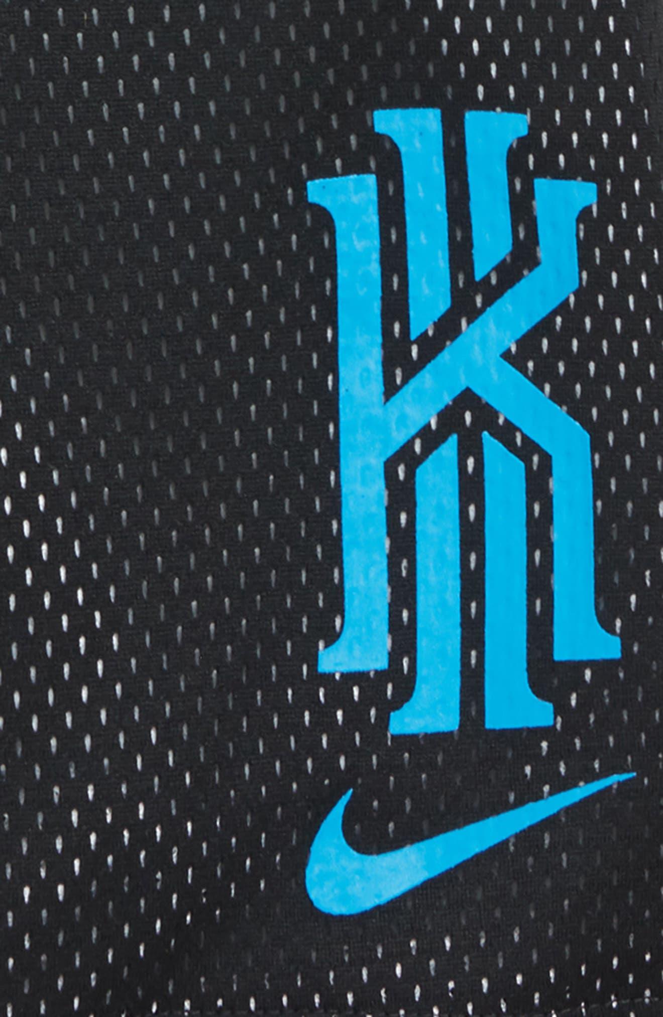 Dry Kyrie Mesh Shorts,                             Alternate thumbnail 2, color,                             BLACK/ BLUE HERO