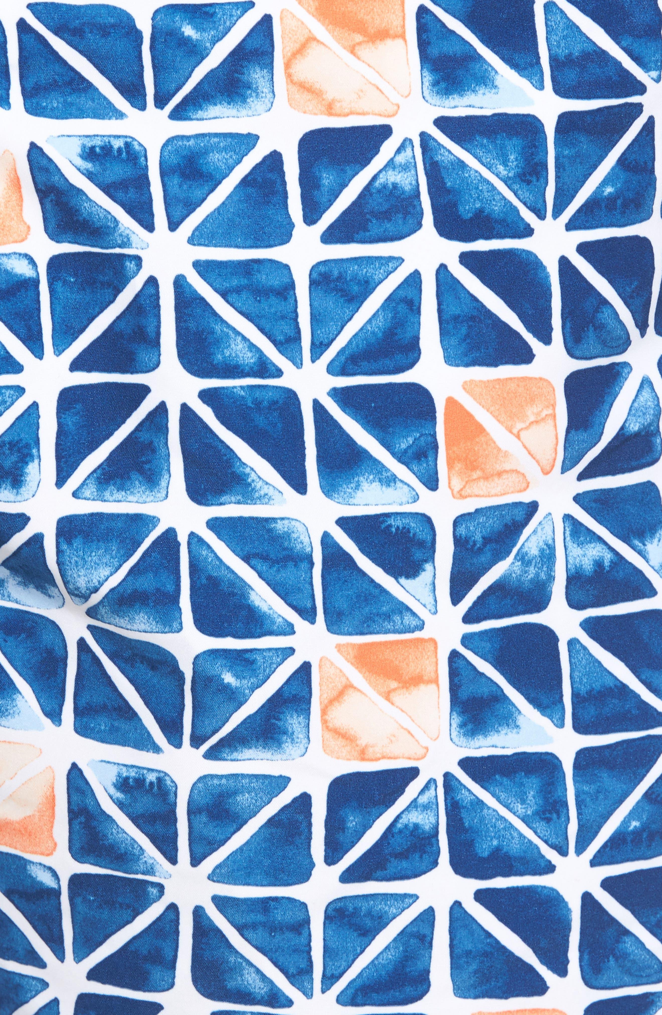 Baja Jupiter Geo Swim Trunks,                             Alternate thumbnail 5, color,                             401