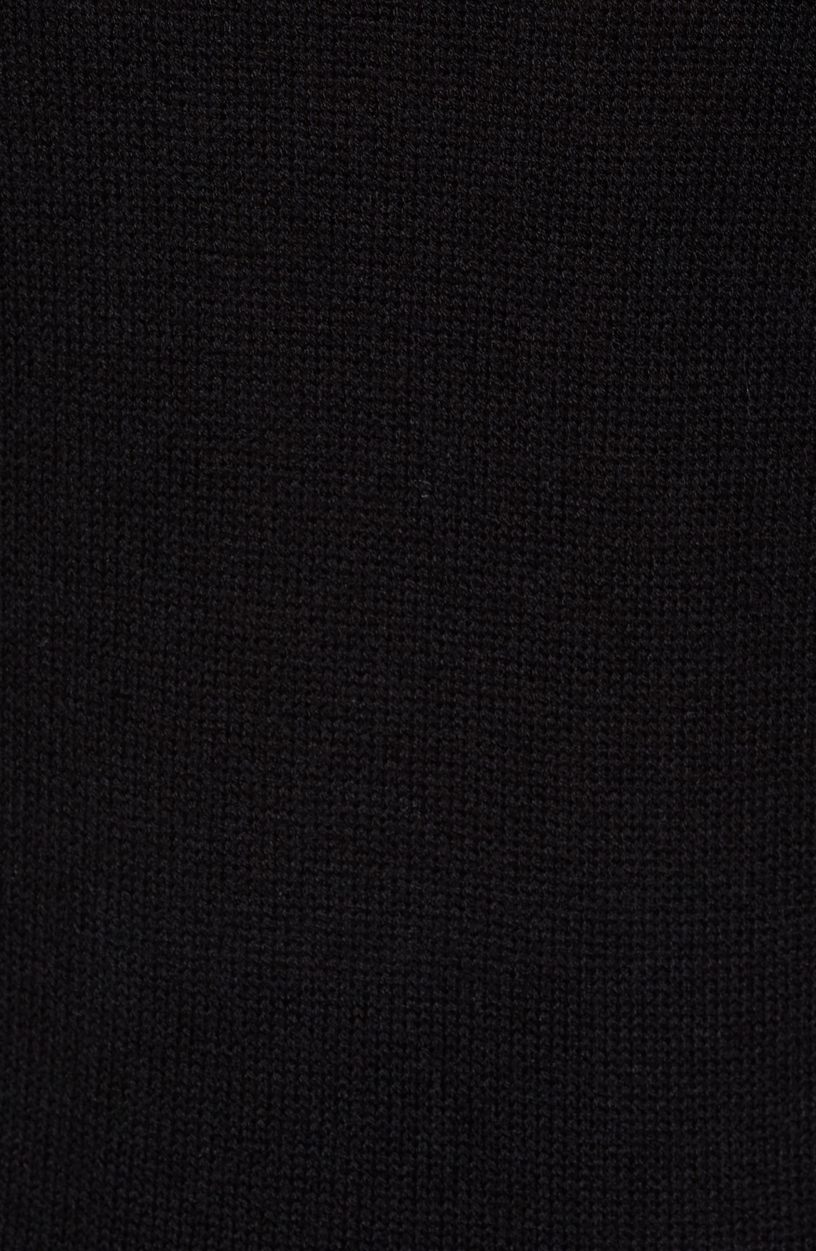 Knit Hoodie,                             Alternate thumbnail 5, color,                             001
