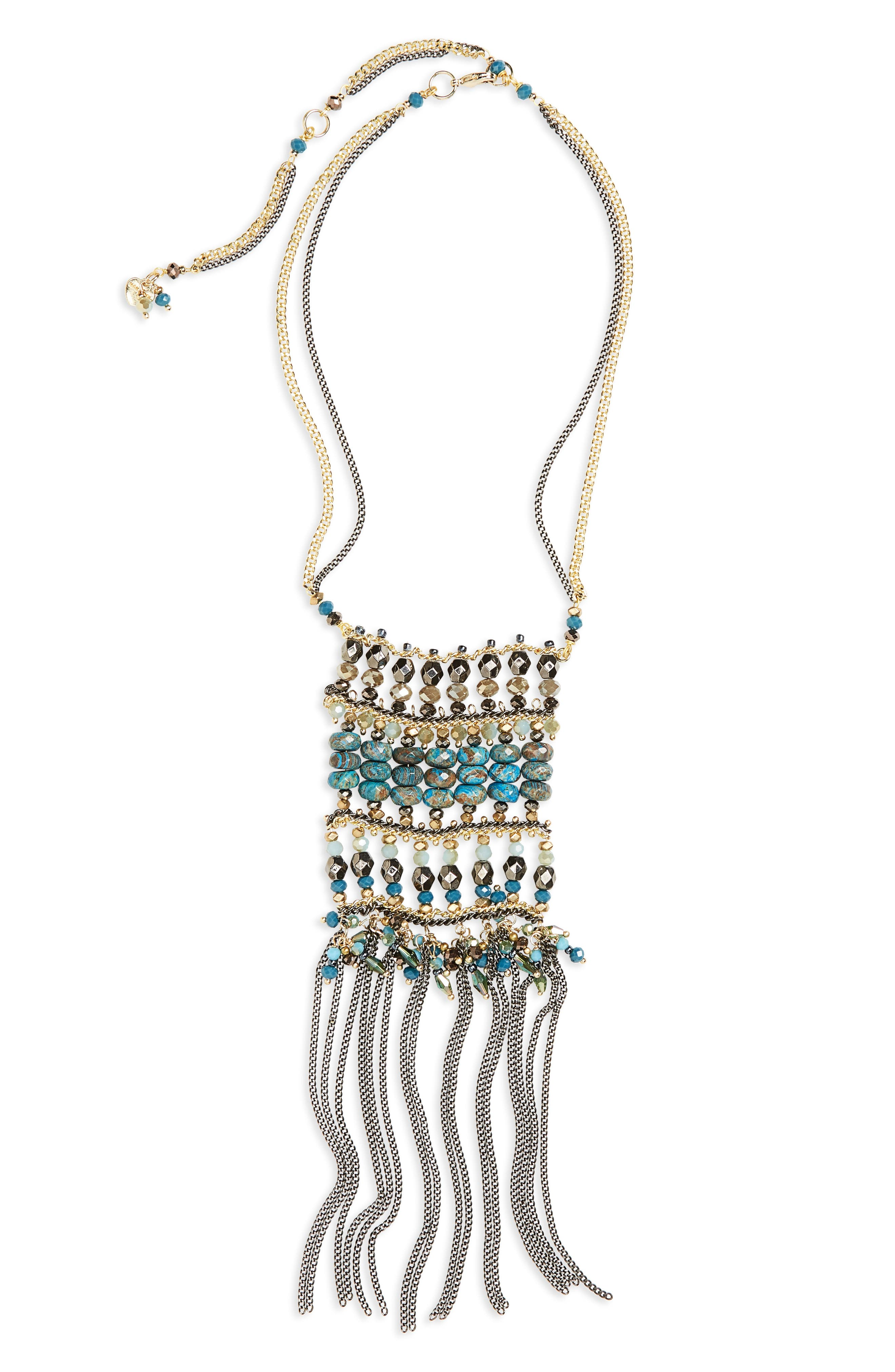 Crystal Chain Necklace,                         Main,                         color, 400