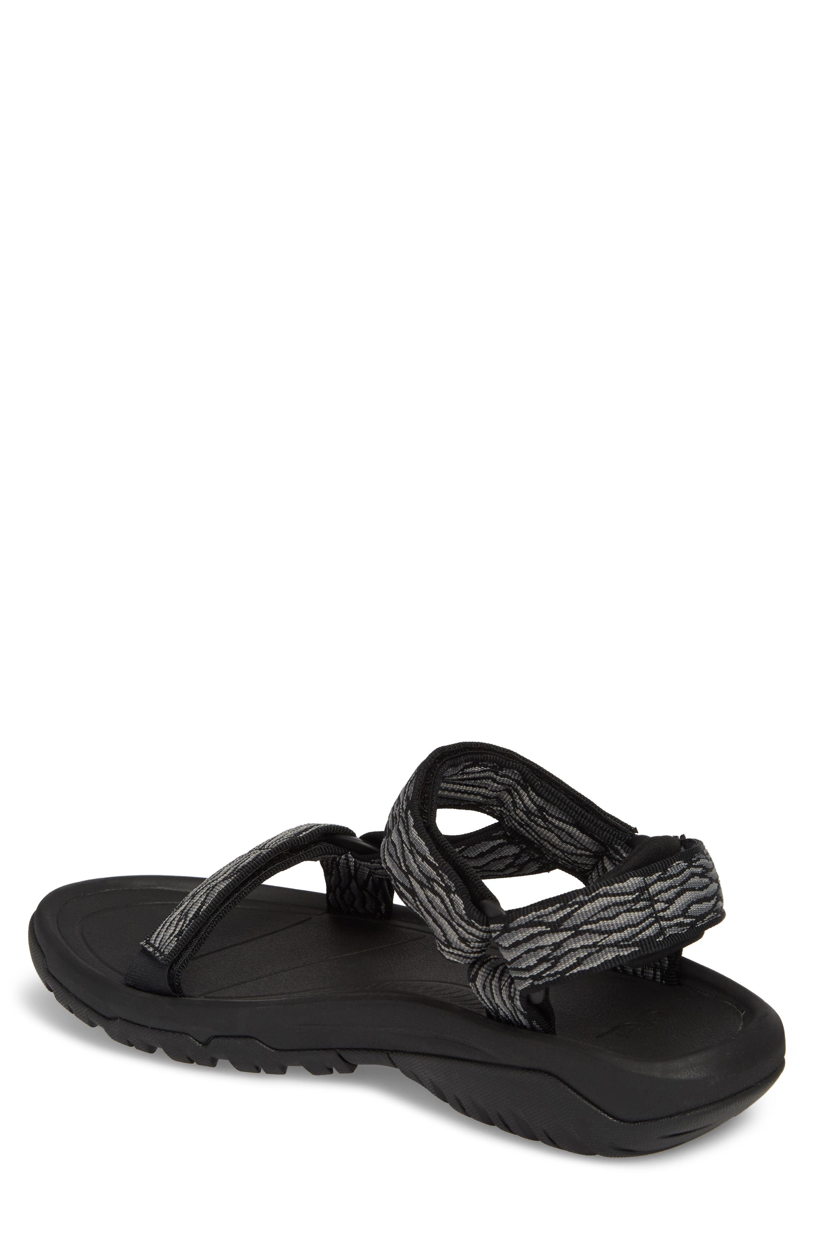 Hurricane XLT 2 Sandal,                             Alternate thumbnail 2, color,                             BLACK/ GREY NYLON