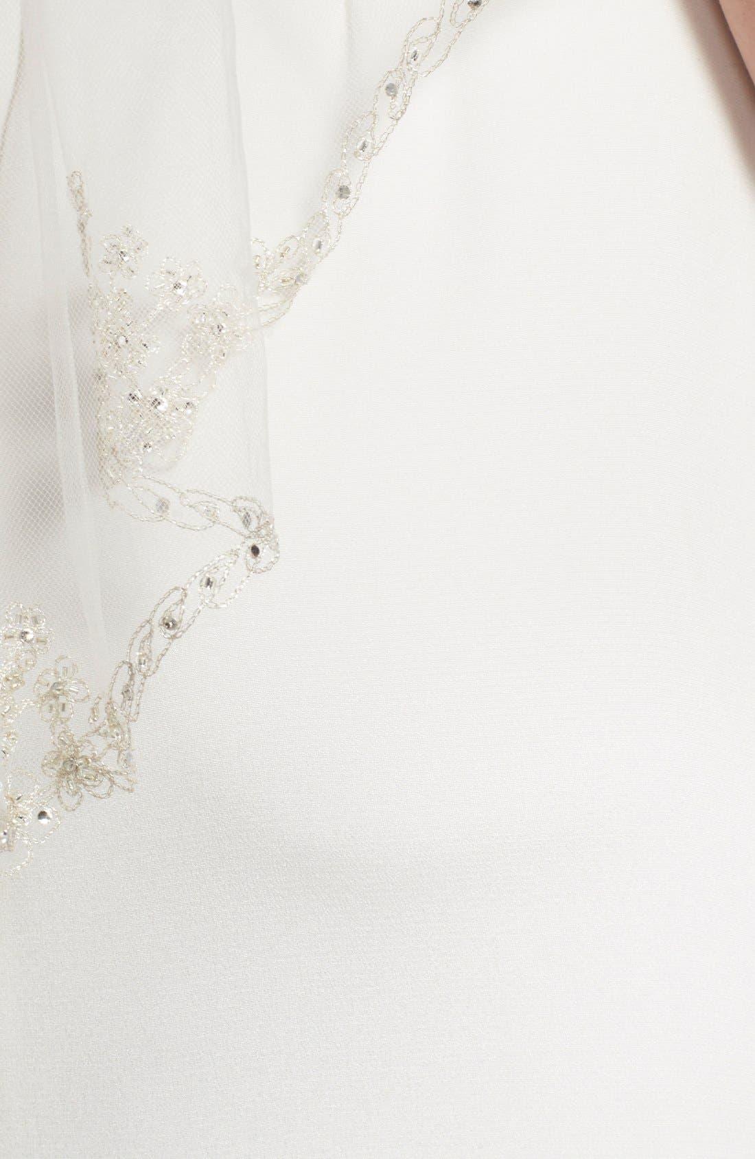 'Sophie' Embellished Tulle Veil,                             Alternate thumbnail 3, color,                             IVORY