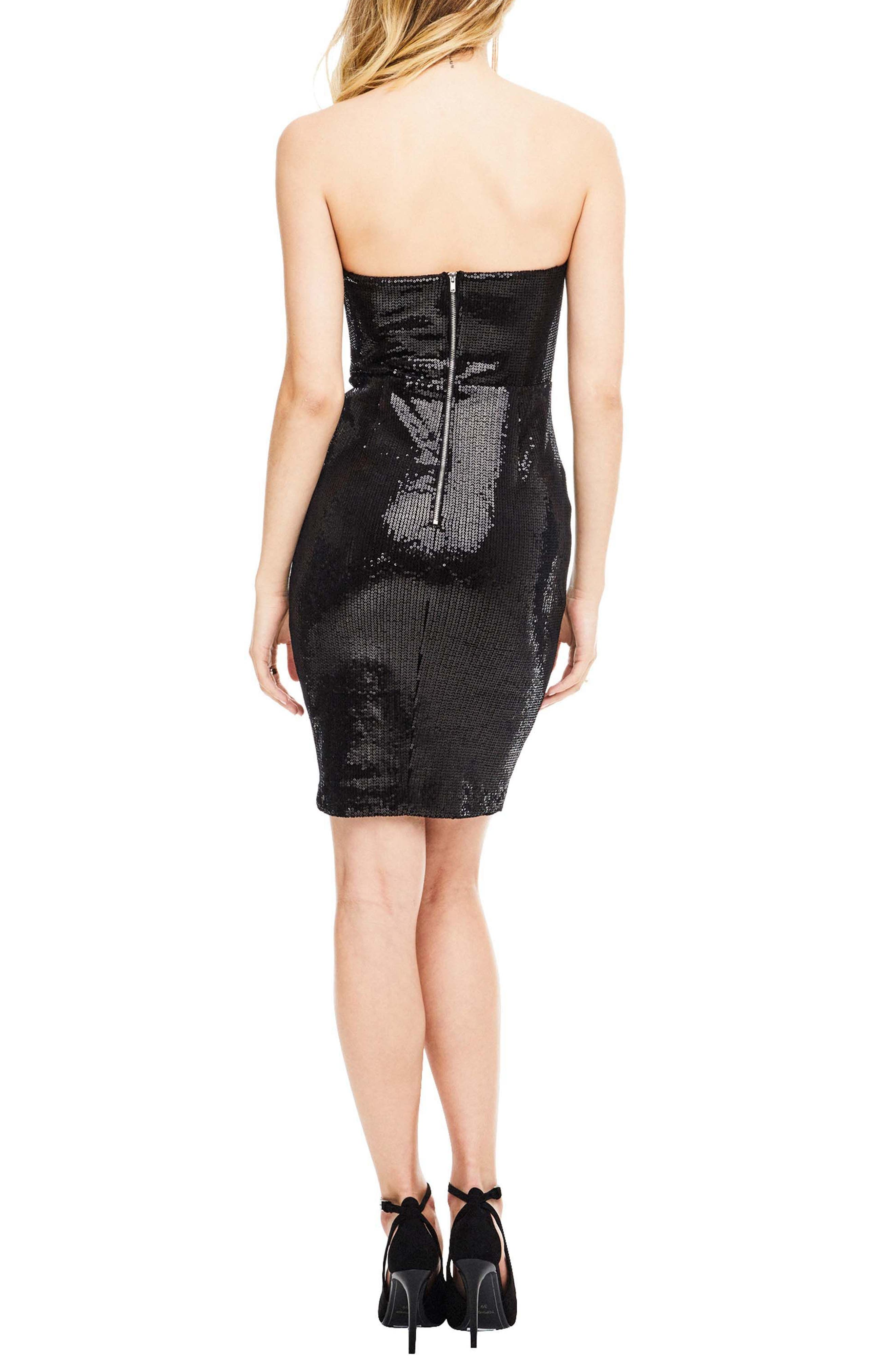 Rizzo Sequin Strapless Dress,                             Alternate thumbnail 2, color,                             001