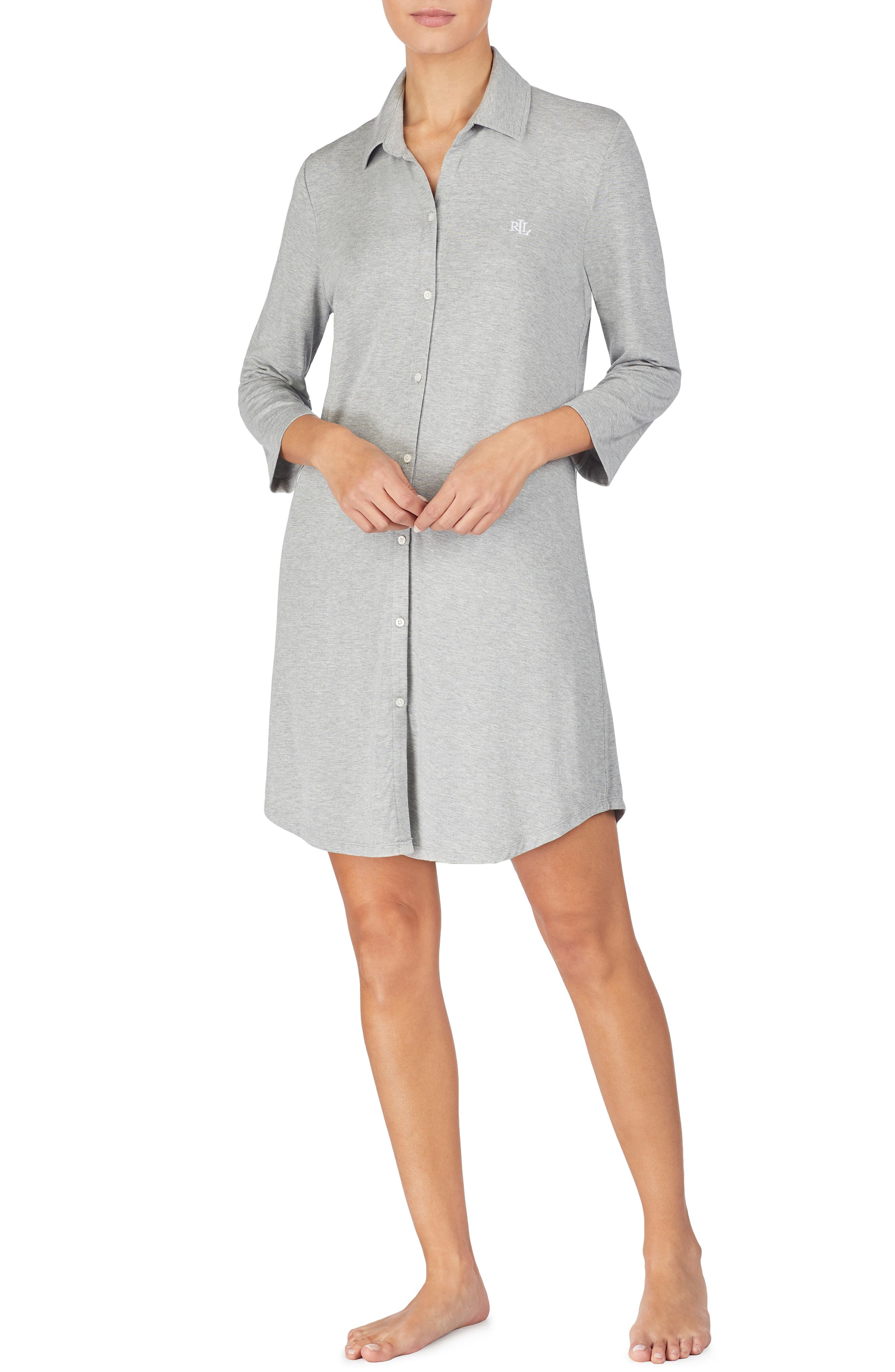 Lauren Ralph Lauren Sleep Shirt, Grey