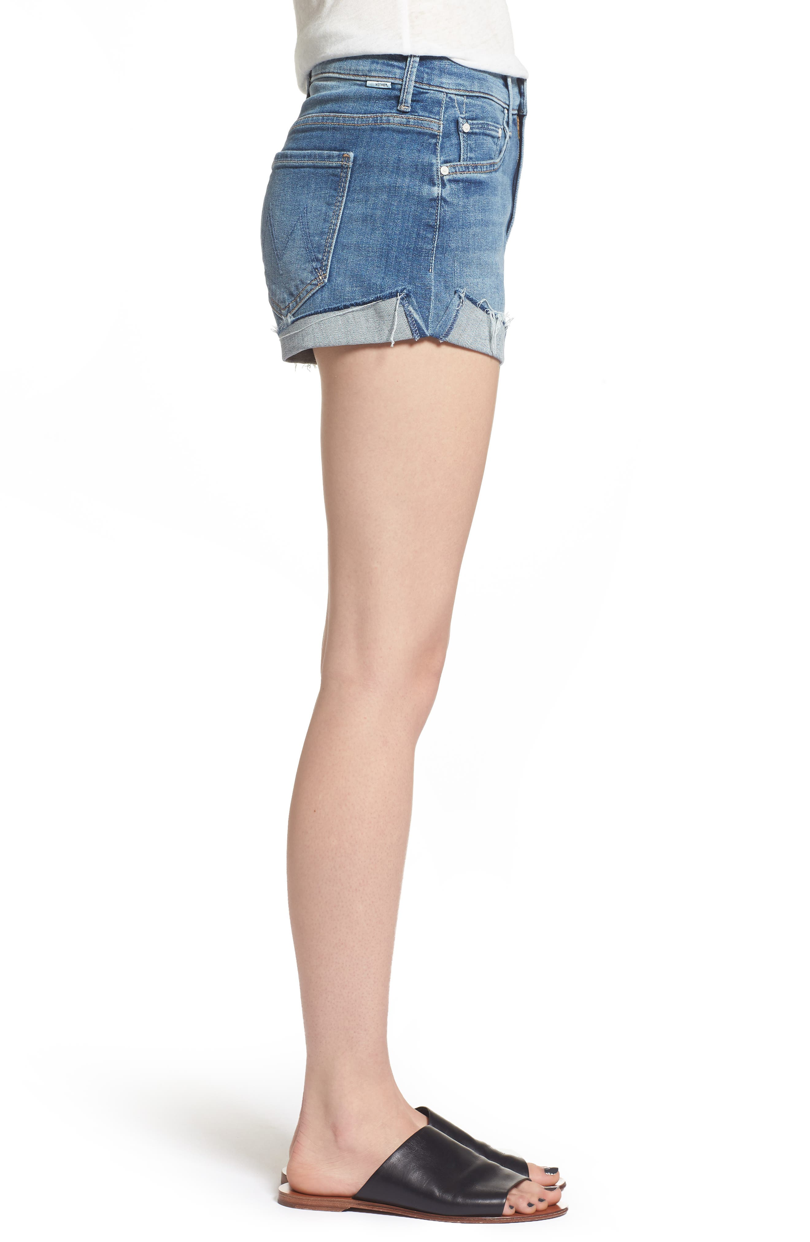 The Rascal Slit Flip Denim Shorts,                             Alternate thumbnail 3, color,
