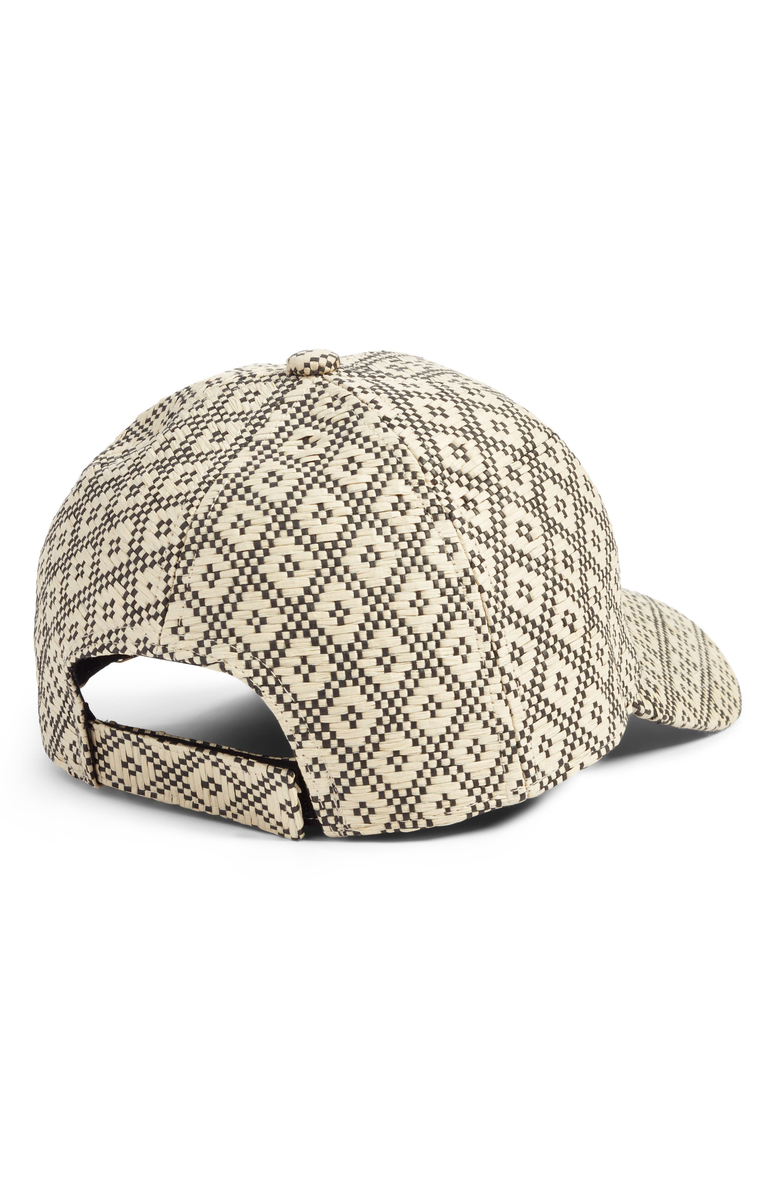 Geo Straw Baseball Cap,                             Alternate thumbnail 2, color,                             250