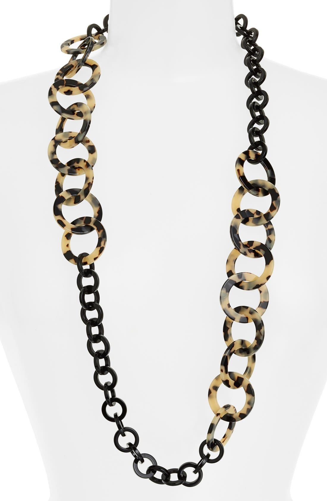 'Madison' Link Station Necklace,                             Main thumbnail 1, color,                             101