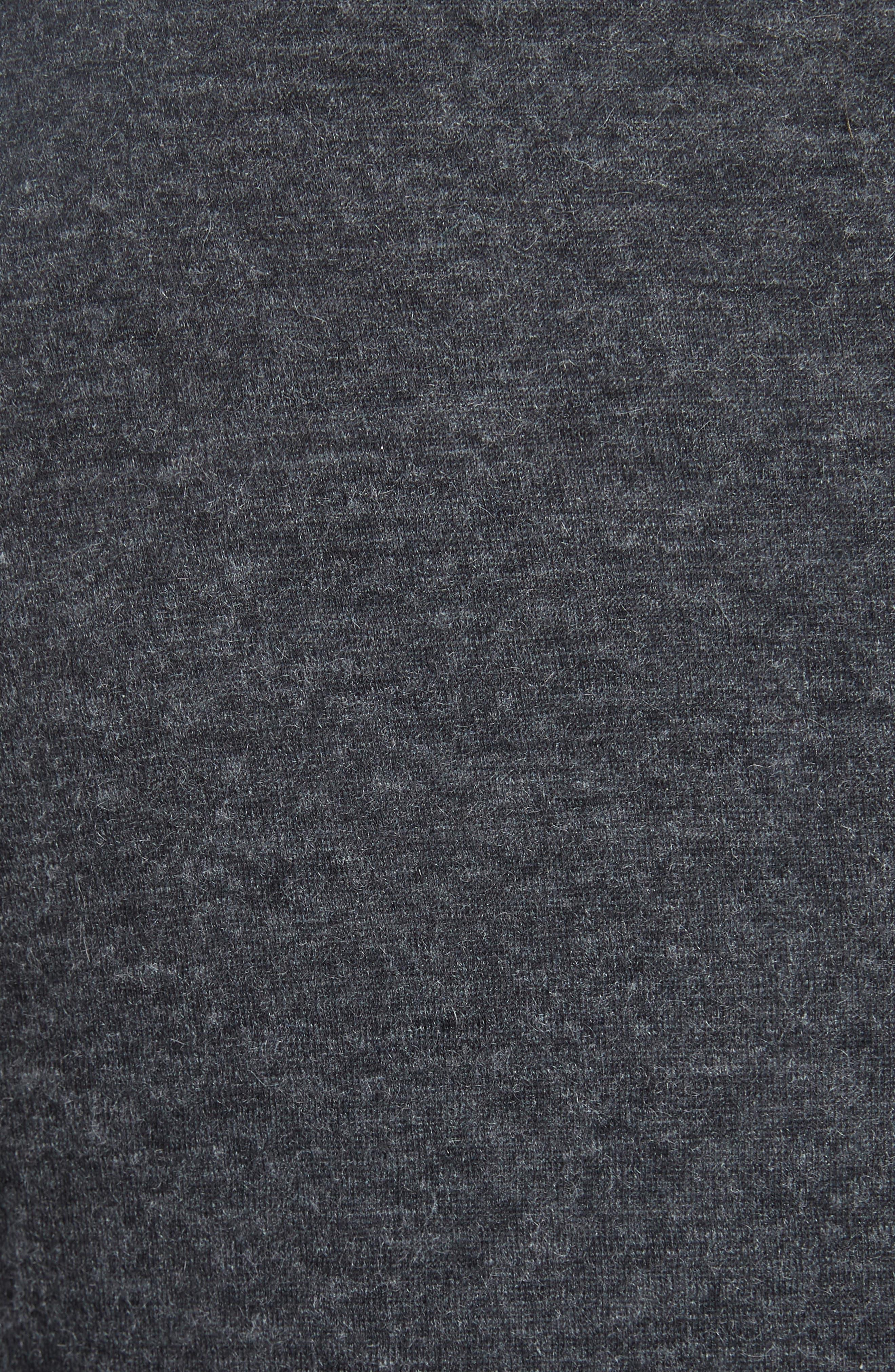 Cotton & Cashmere Blazer,                             Alternate thumbnail 6, color,                             ANTHRACITE CH/ GRIS CH