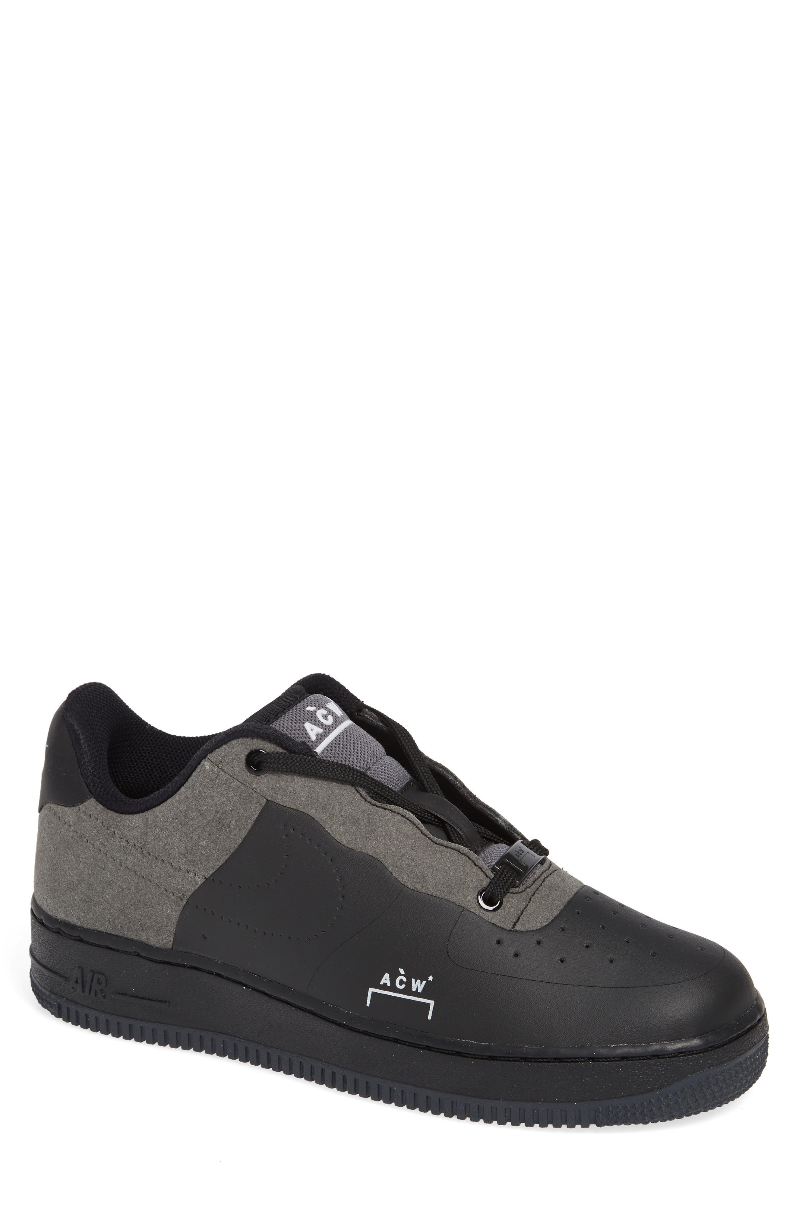 x A-COLD-WALL Air Force 1 '07 Sneaker,                             Main thumbnail 1, color,                             BLACK/ WHITE/ DARK GREY
