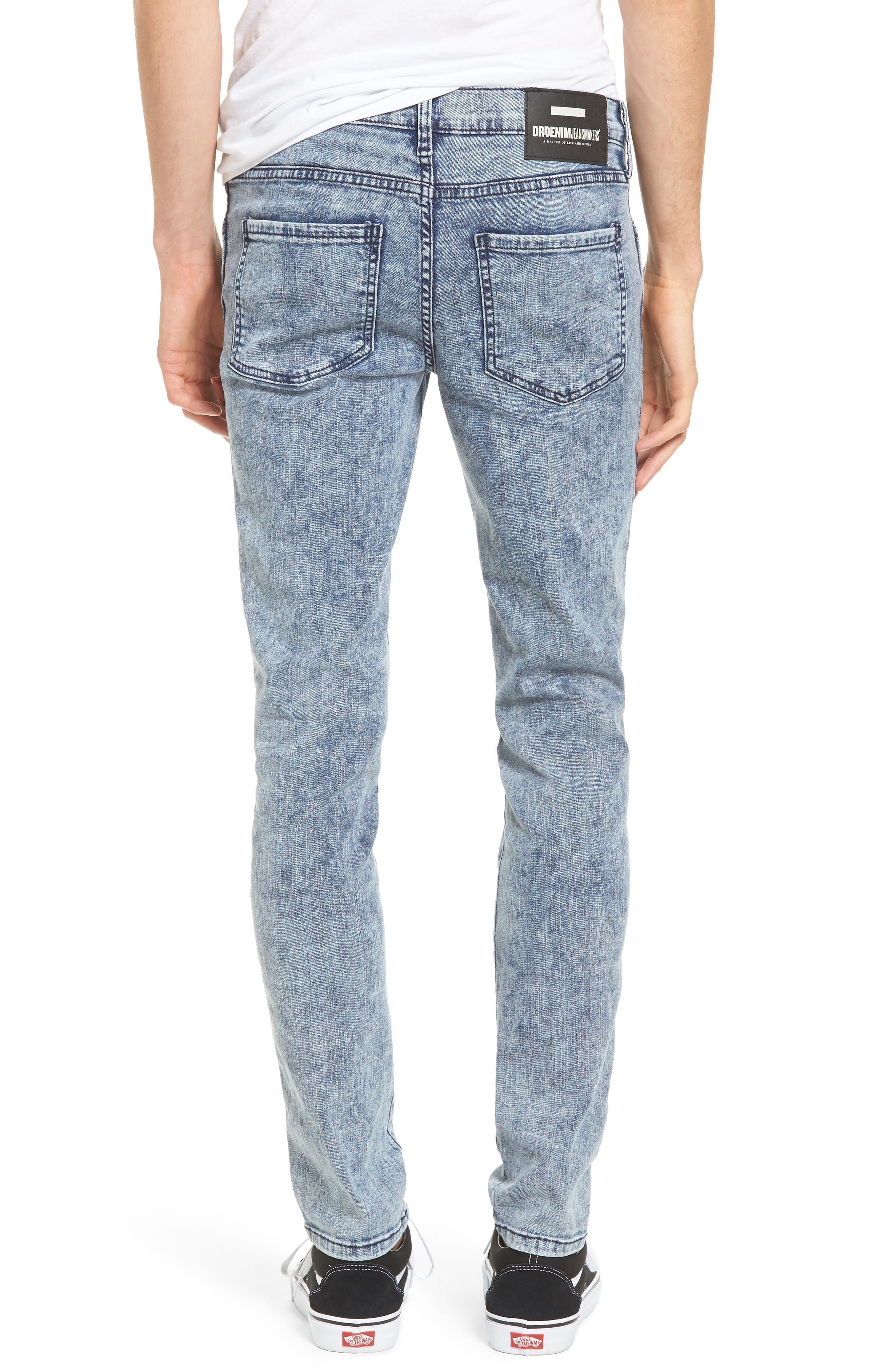 Snap Skinny Fit Jeans,                             Alternate thumbnail 2, color,                             400