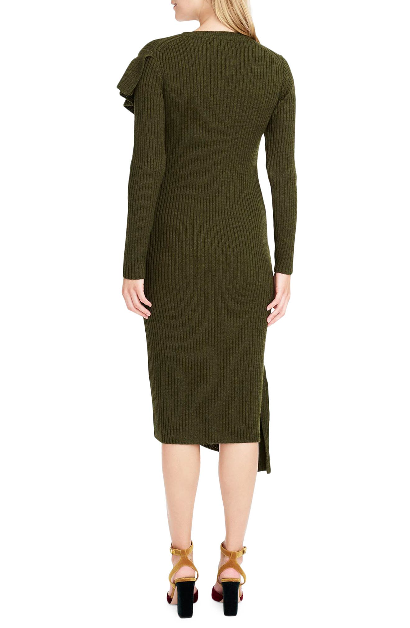 Collection Ruffle-Front Sweater Dress,                             Alternate thumbnail 2, color,                             300